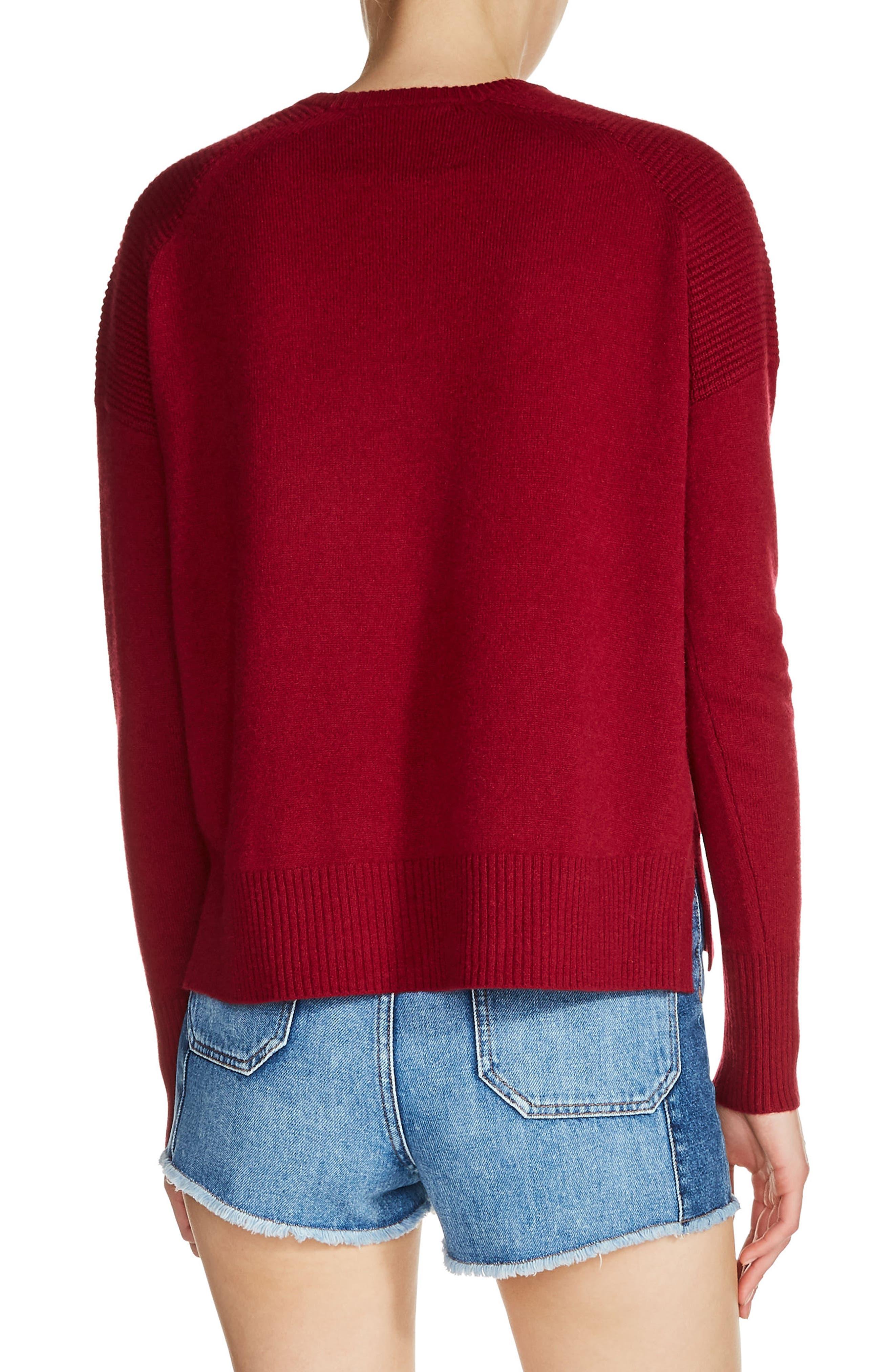 Cashmere Sweater,                             Alternate thumbnail 2, color,                             Burgundy