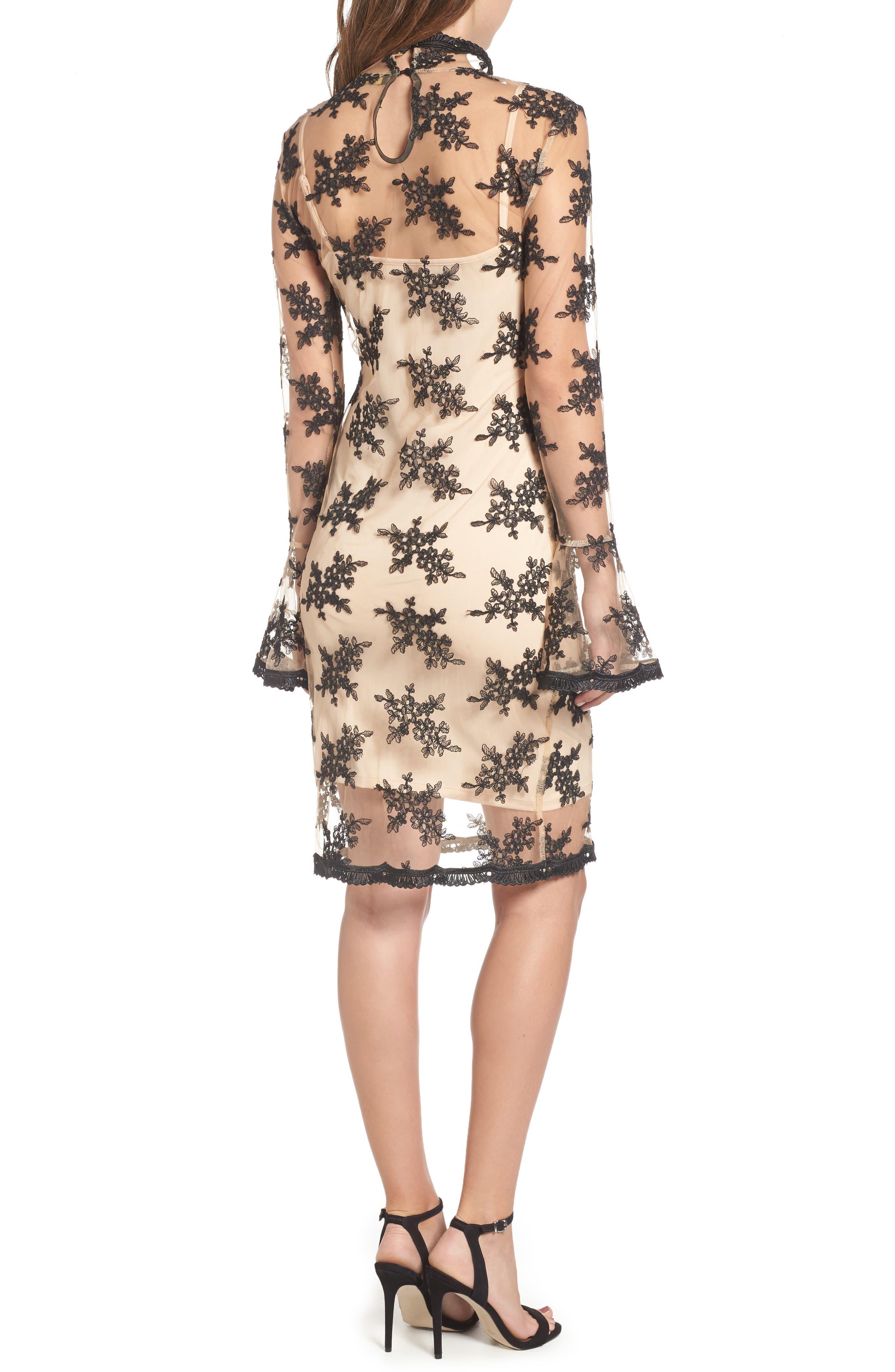 Desh Embroidered Dress,                             Alternate thumbnail 2, color,                             Black