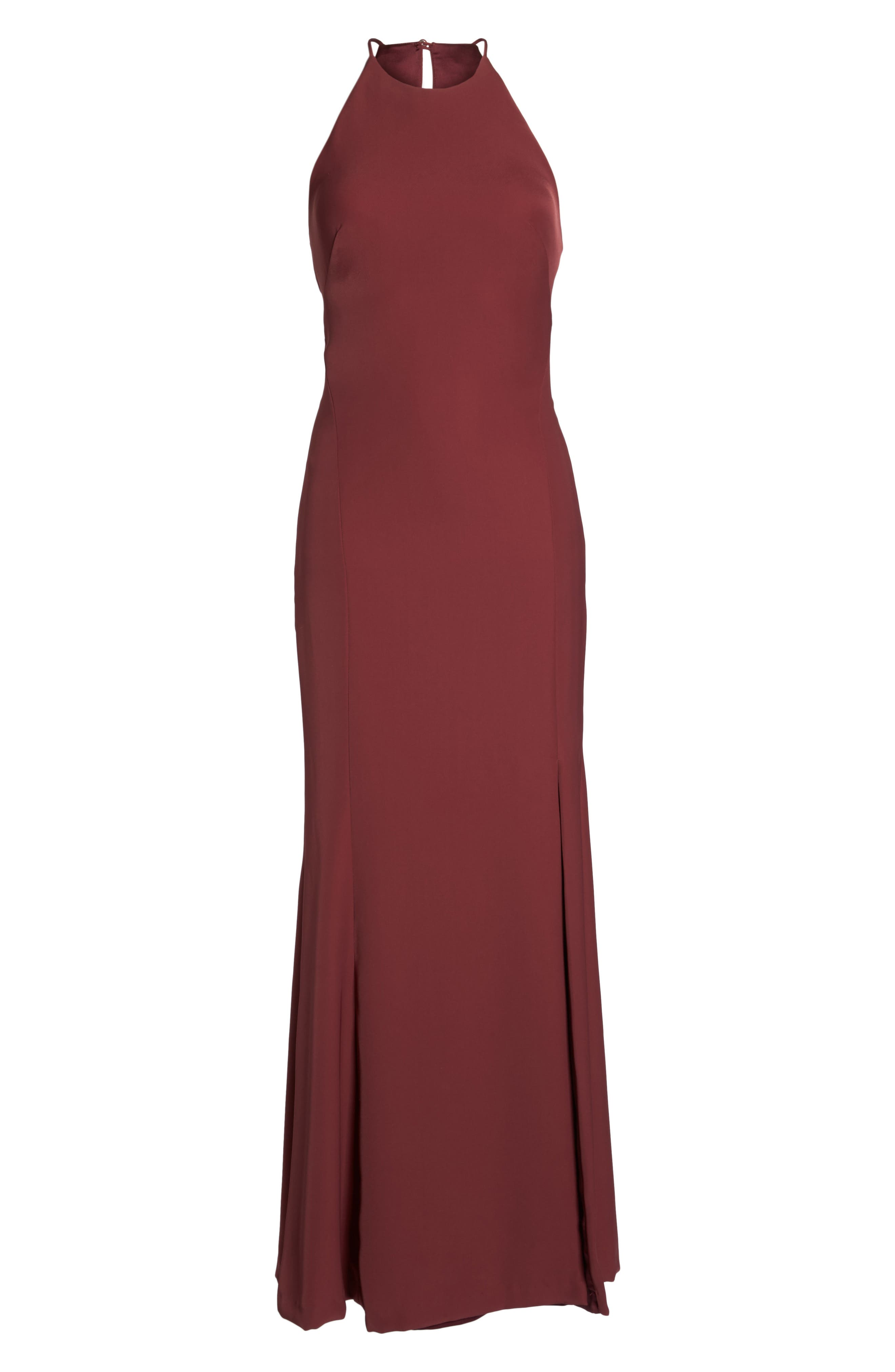 Mical Bellessa Stretch Crepe Gown,                             Alternate thumbnail 6, color,                             Luxardo