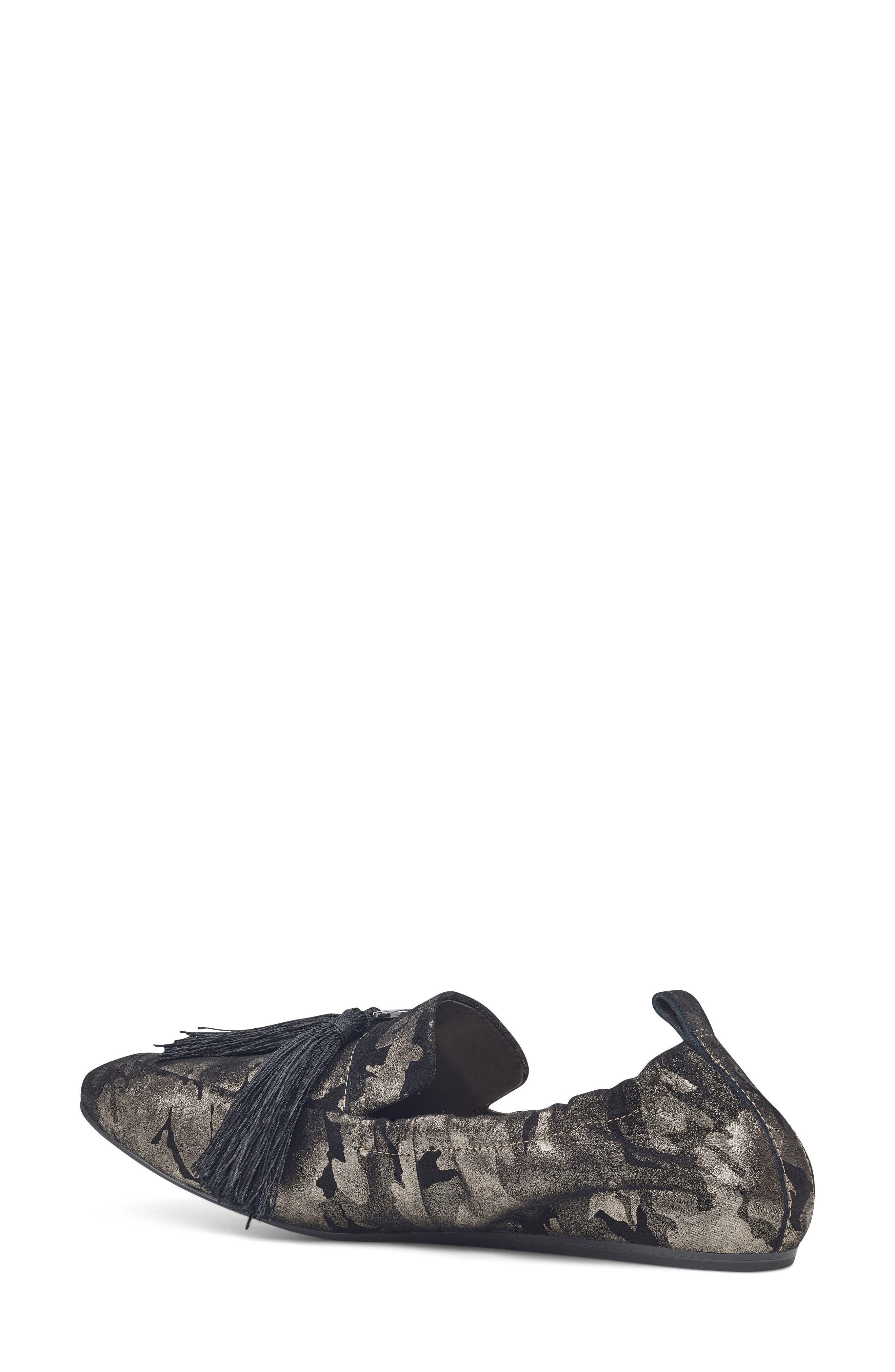 Ballard Tassel Loafer Flat,                             Alternate thumbnail 2, color,                             Pewter Leather