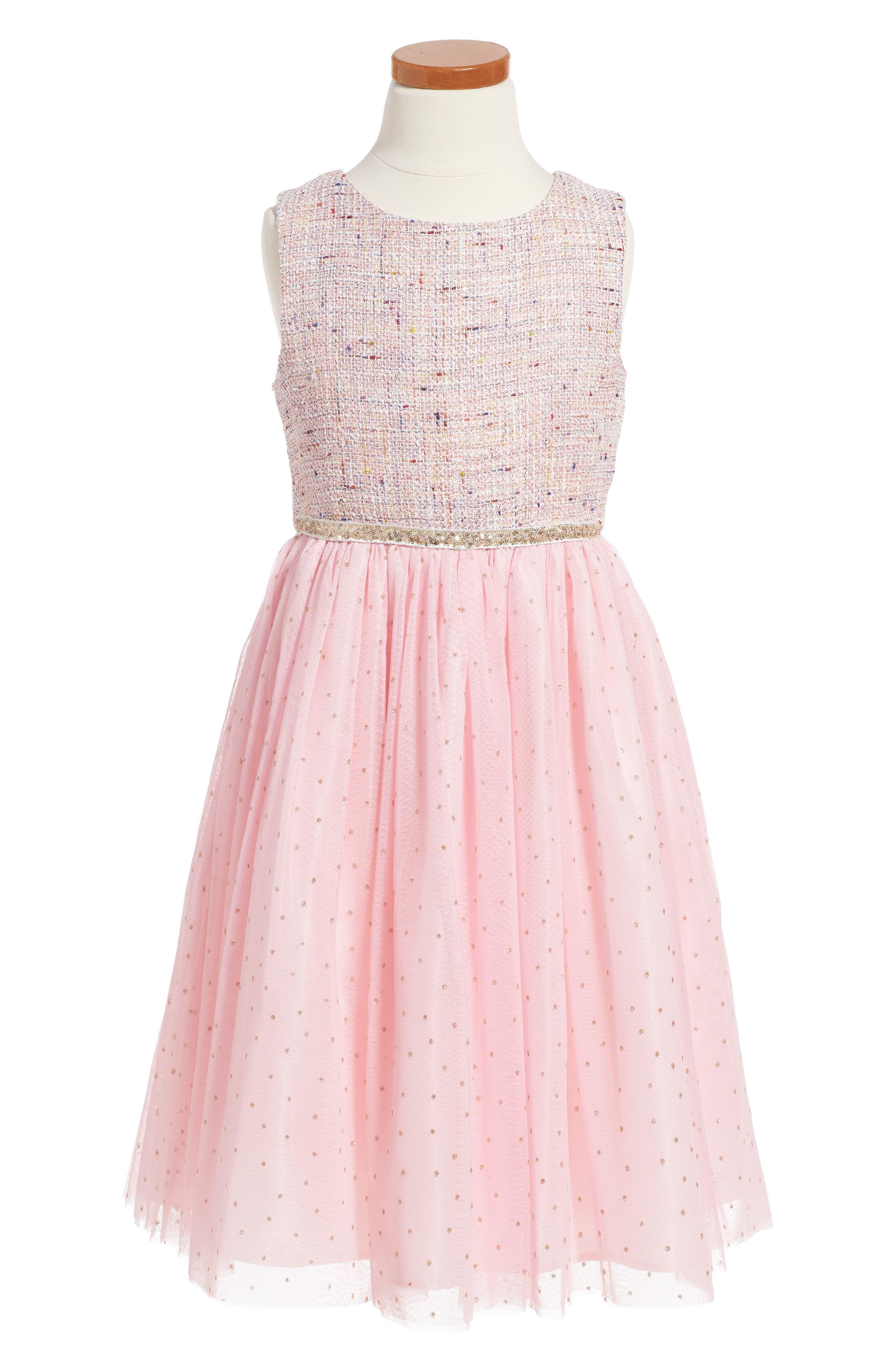 Samantha Dress,                         Main,                         color, Pink