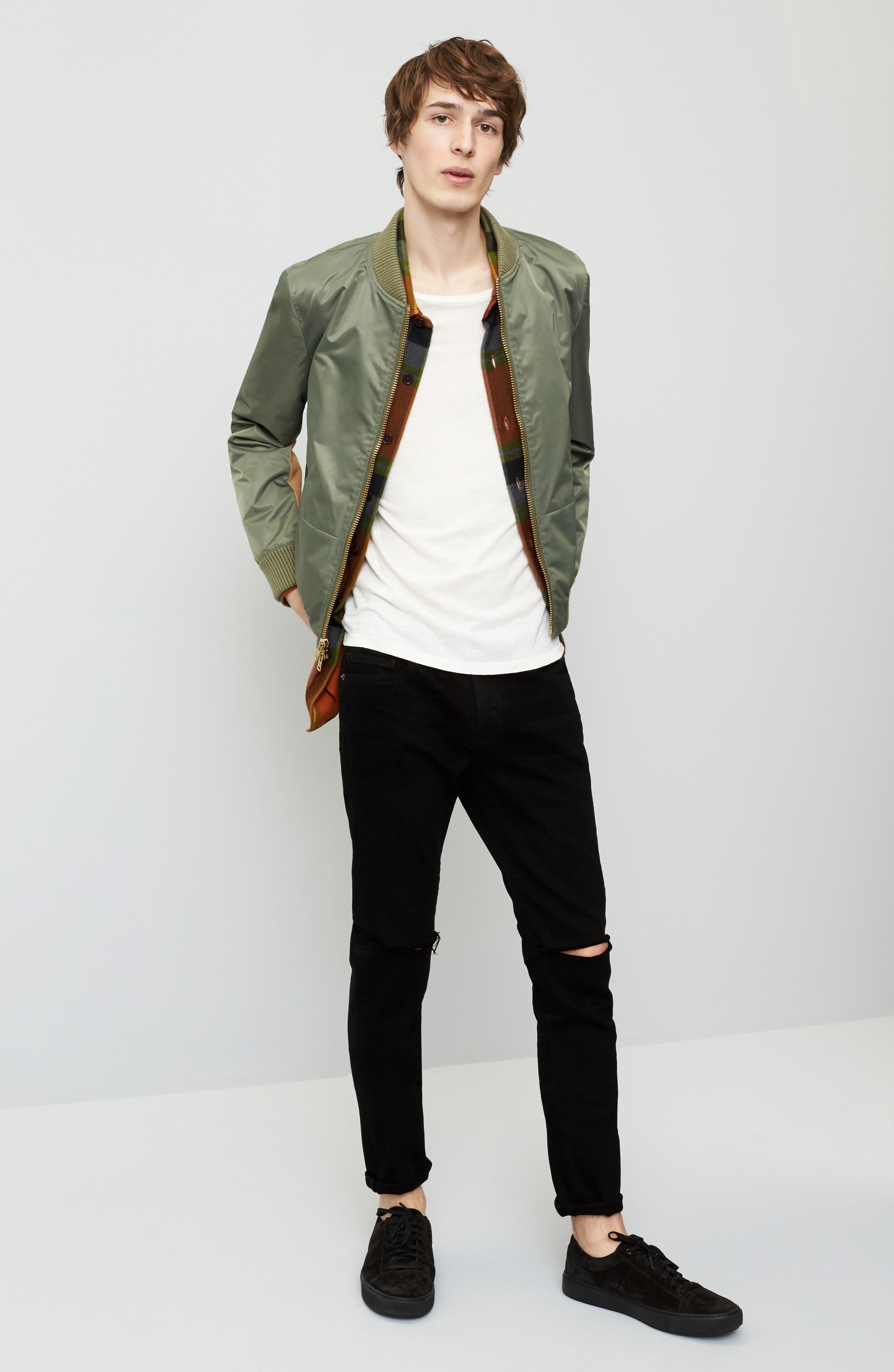 Alternate Image 6  - FRAME 'L'Homme' Skinny Fit Jeans (Noir)