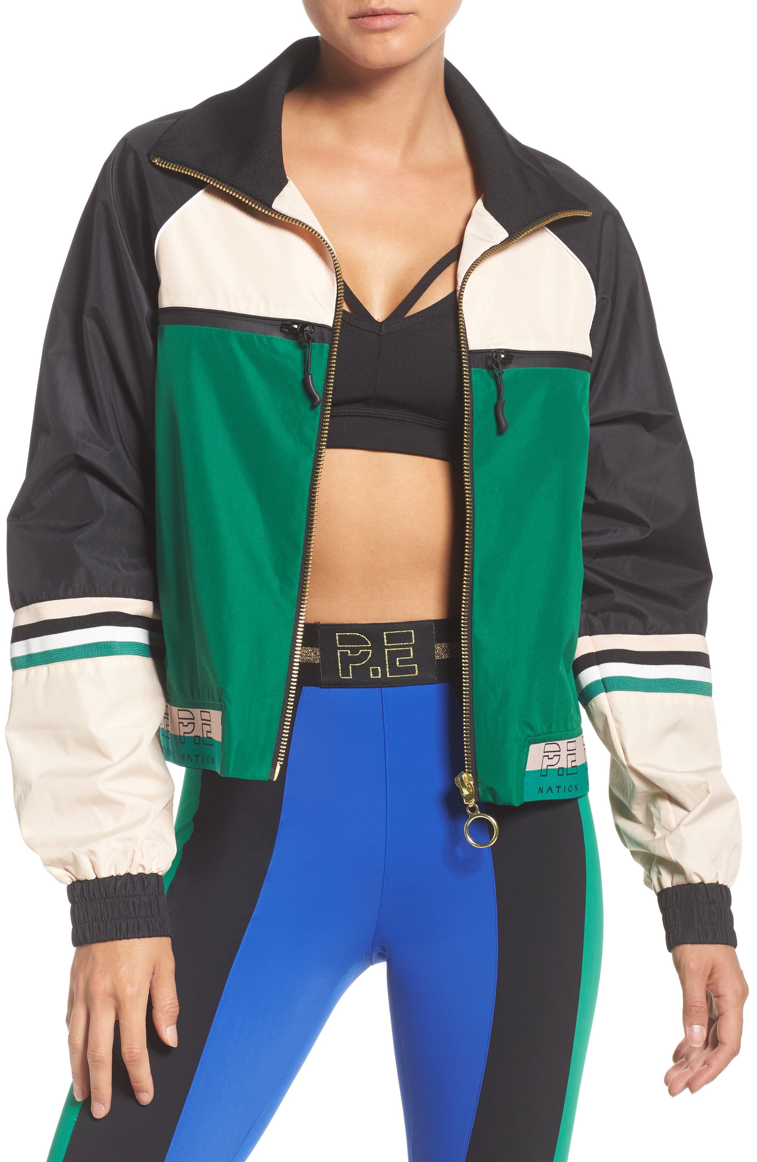 Major League Jacket,                         Main,                         color, Green Multi