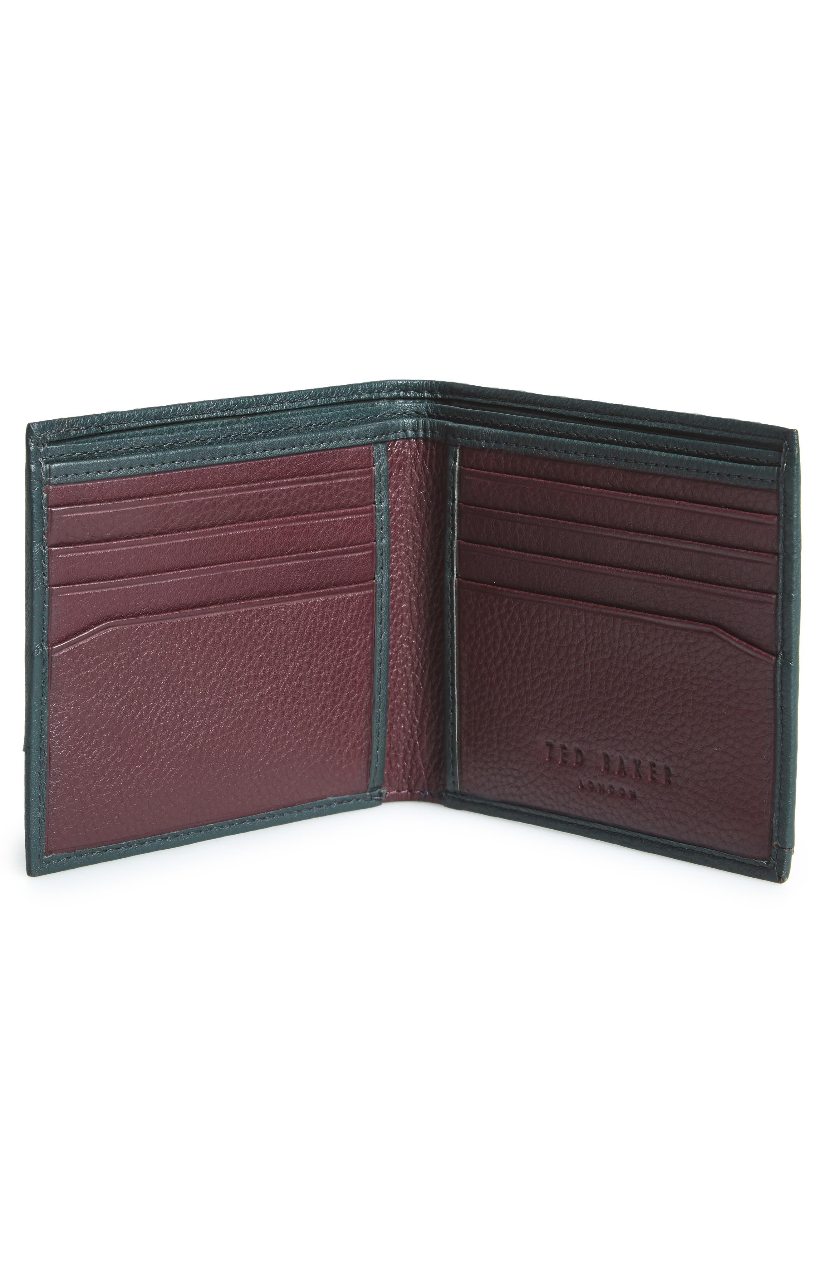 Persia Leather Wallet,                             Alternate thumbnail 2, color,                             Dark Green