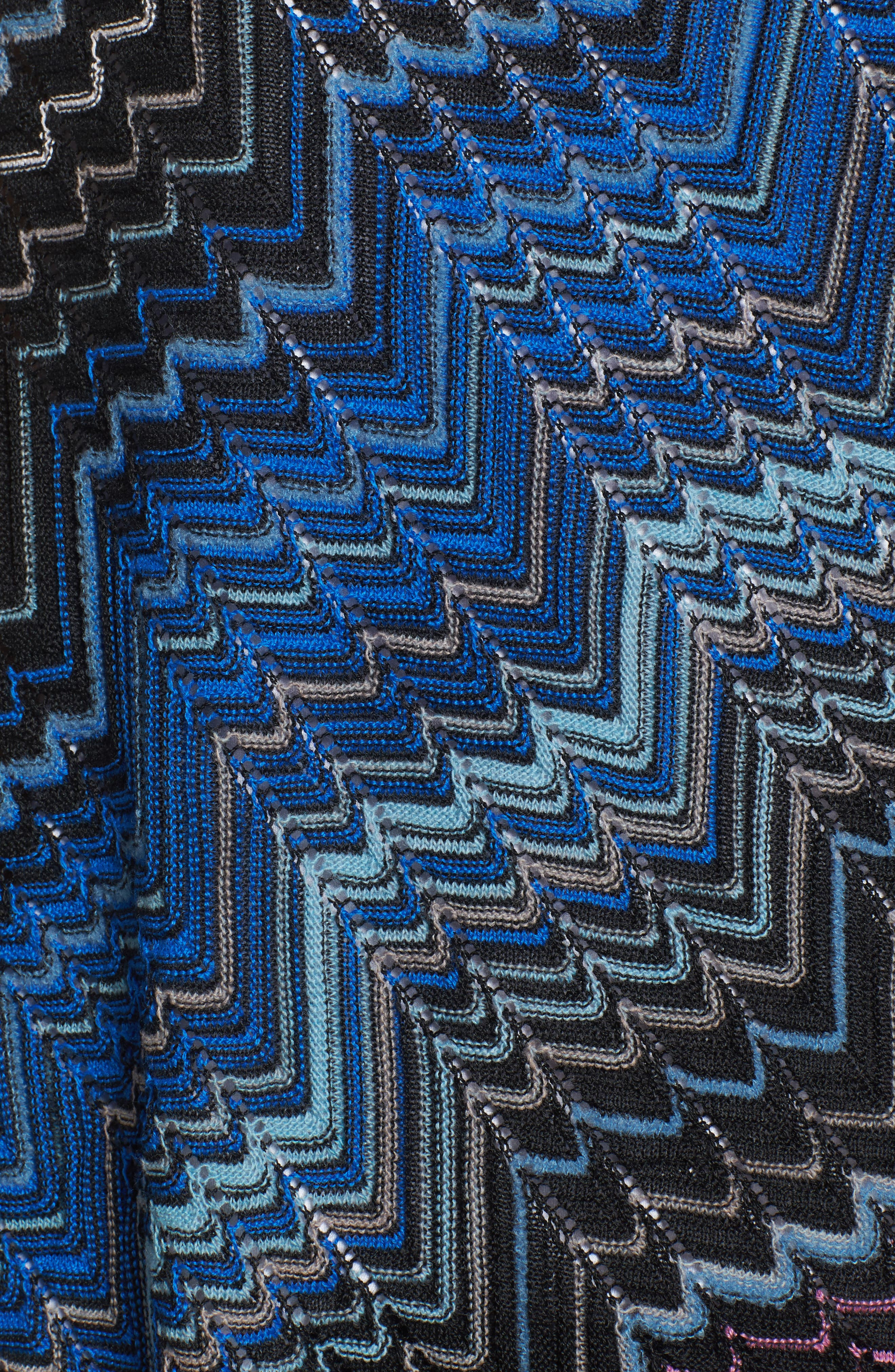 Zigzag Poncho,                             Alternate thumbnail 6, color,                             Blue