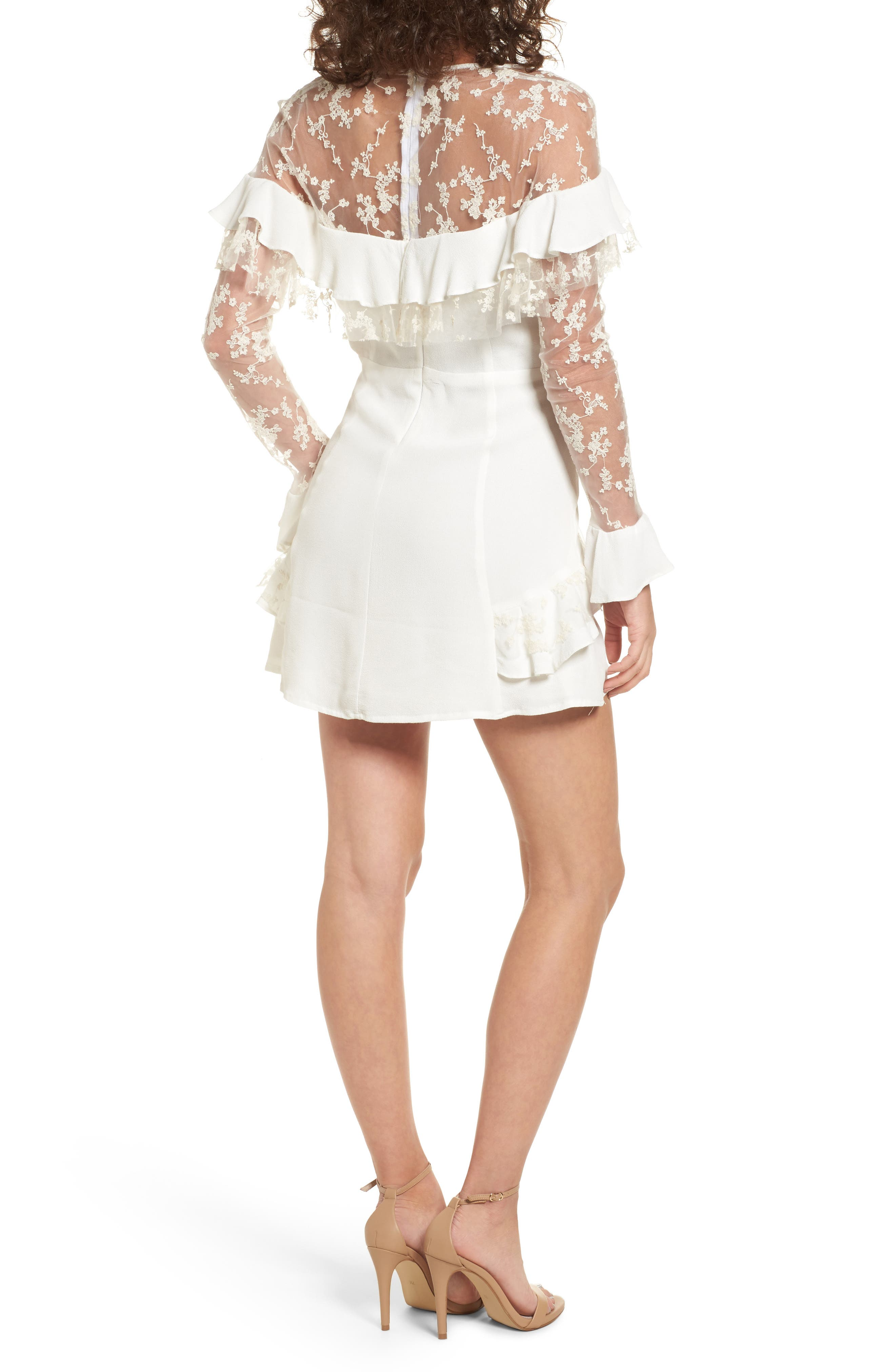 Alternate Image 2  - For Love & Lemons Rosebud Minidress