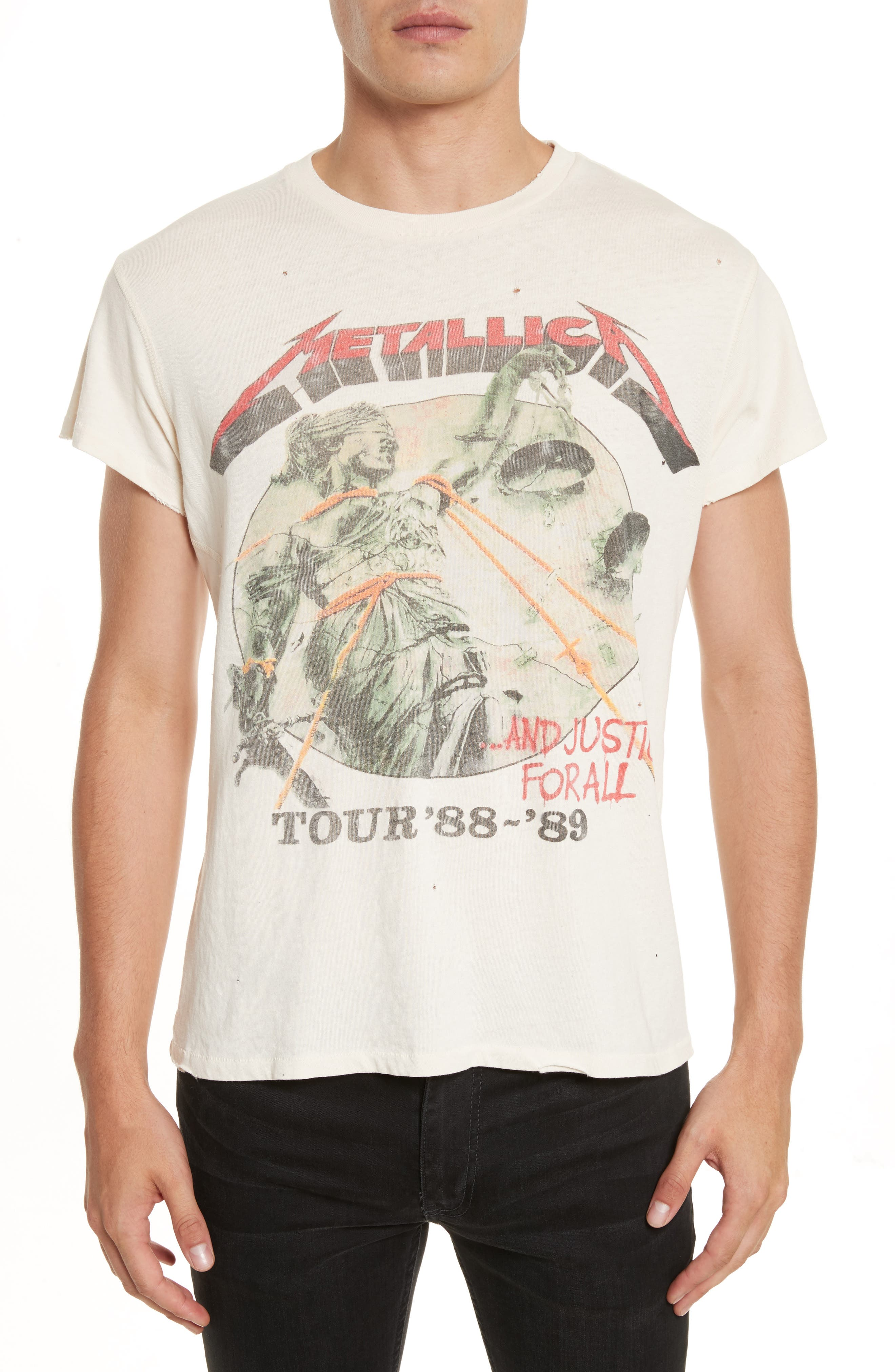 Metallica - And Justice for All Graphic T-Shirt,                         Main,                         color, Dirty White