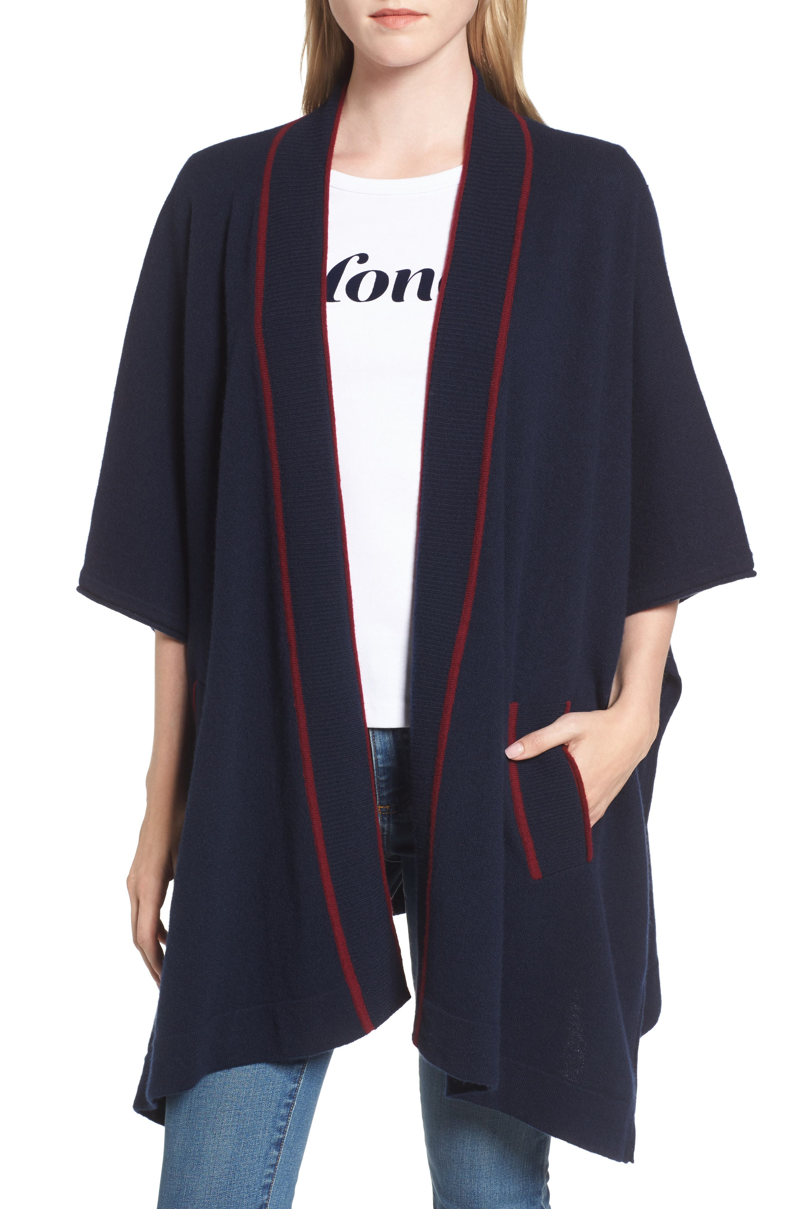 Main Image - Draper James Cora Cape Cardigan