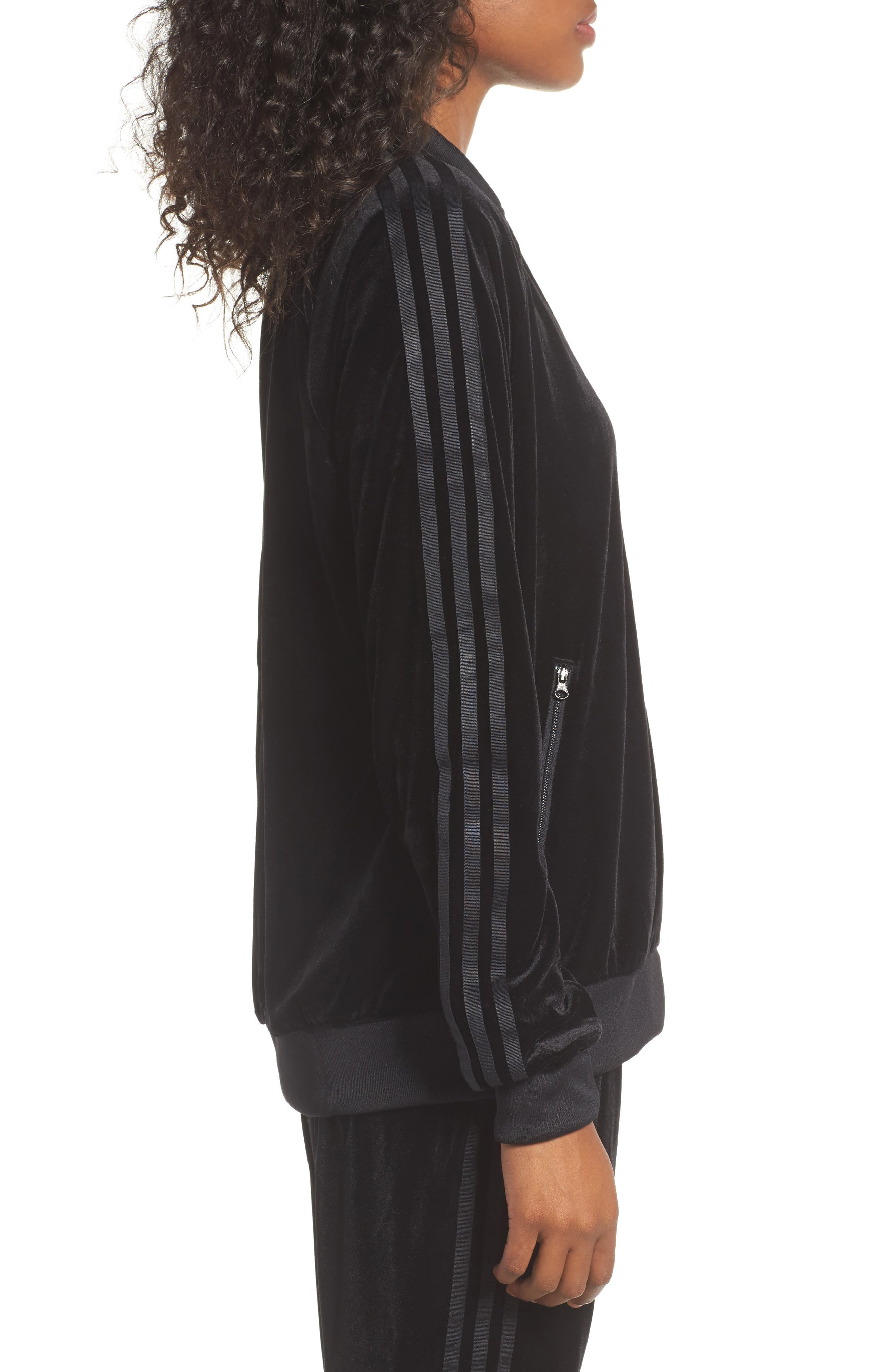Alternate Image 3  - adidas originals Velvet Zip Sweatshirt