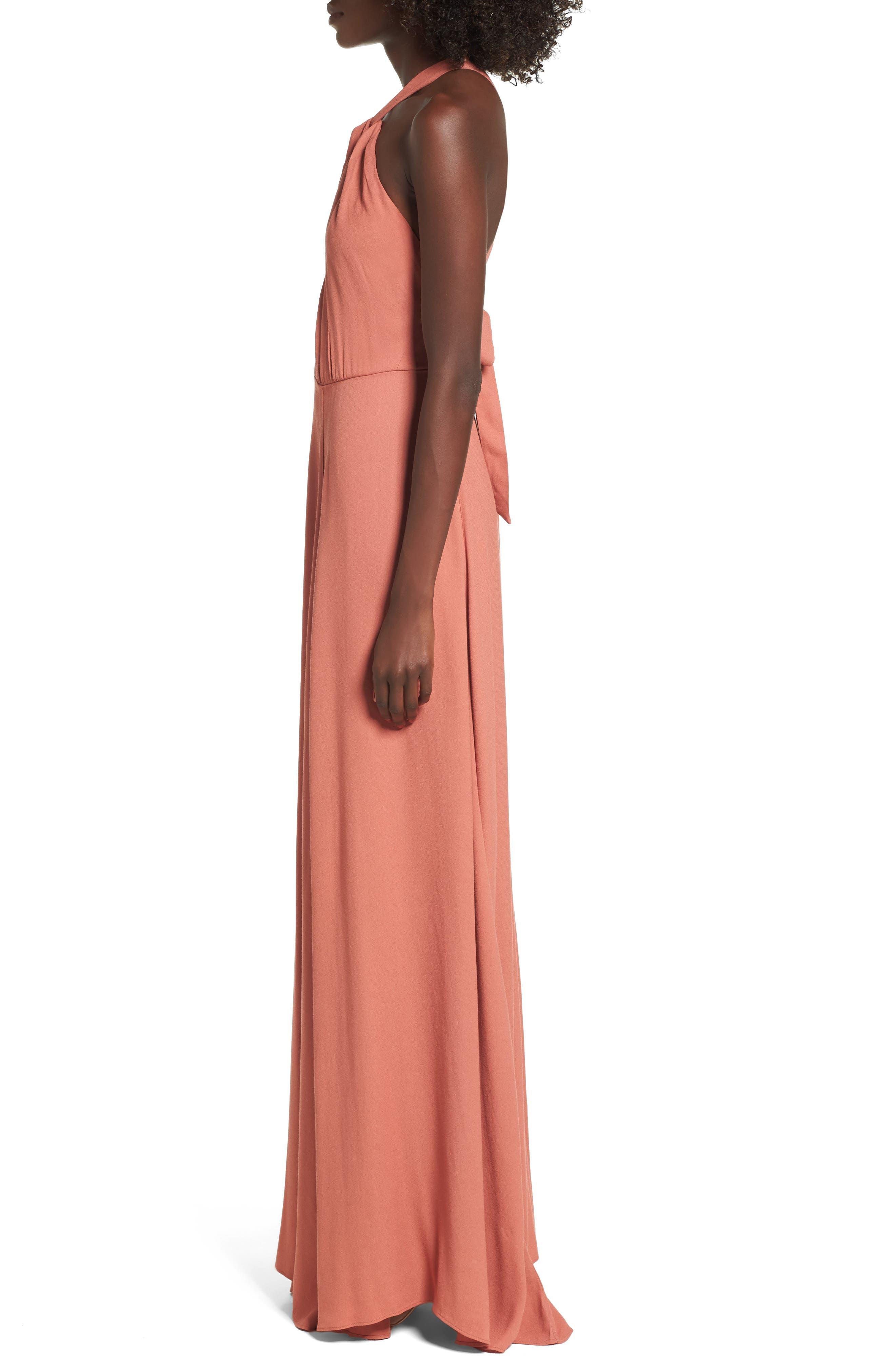 Alternate Image 3  - AFRM Harlean Halter Maxi Dress