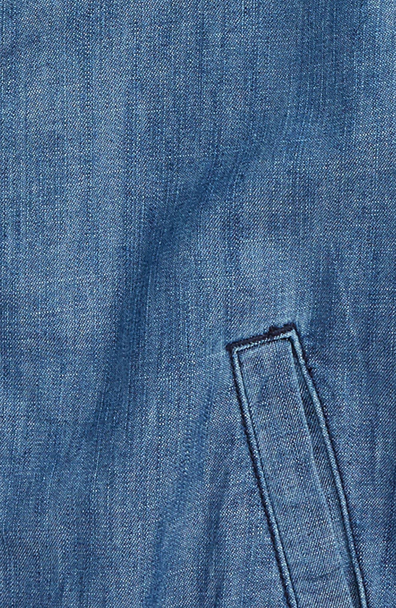 Denim Bomber Jacket,                             Alternate thumbnail 2, color,                             Dusk Blue Wash