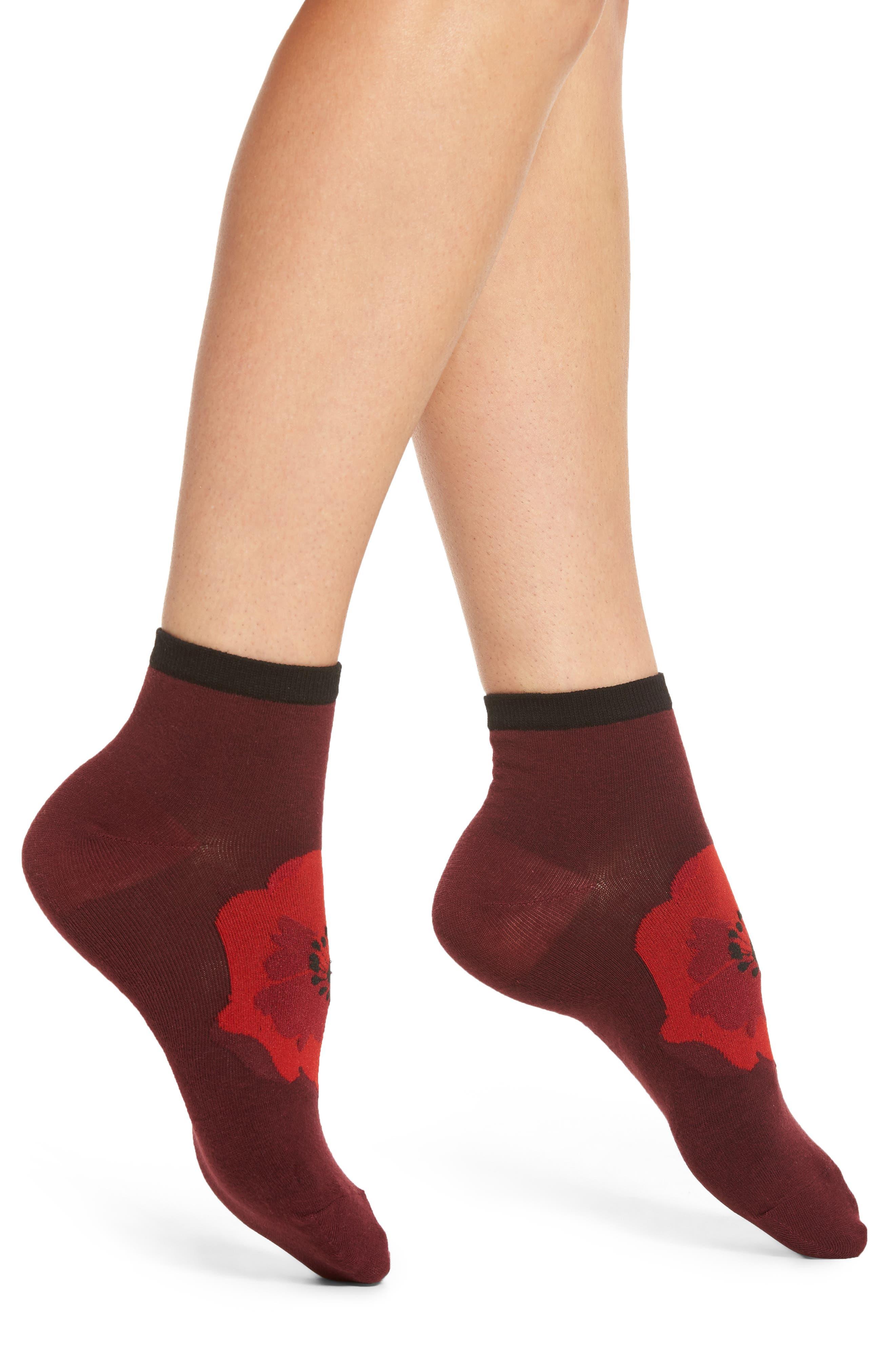 kate spade new york poppy ankle socks (3 for $24)