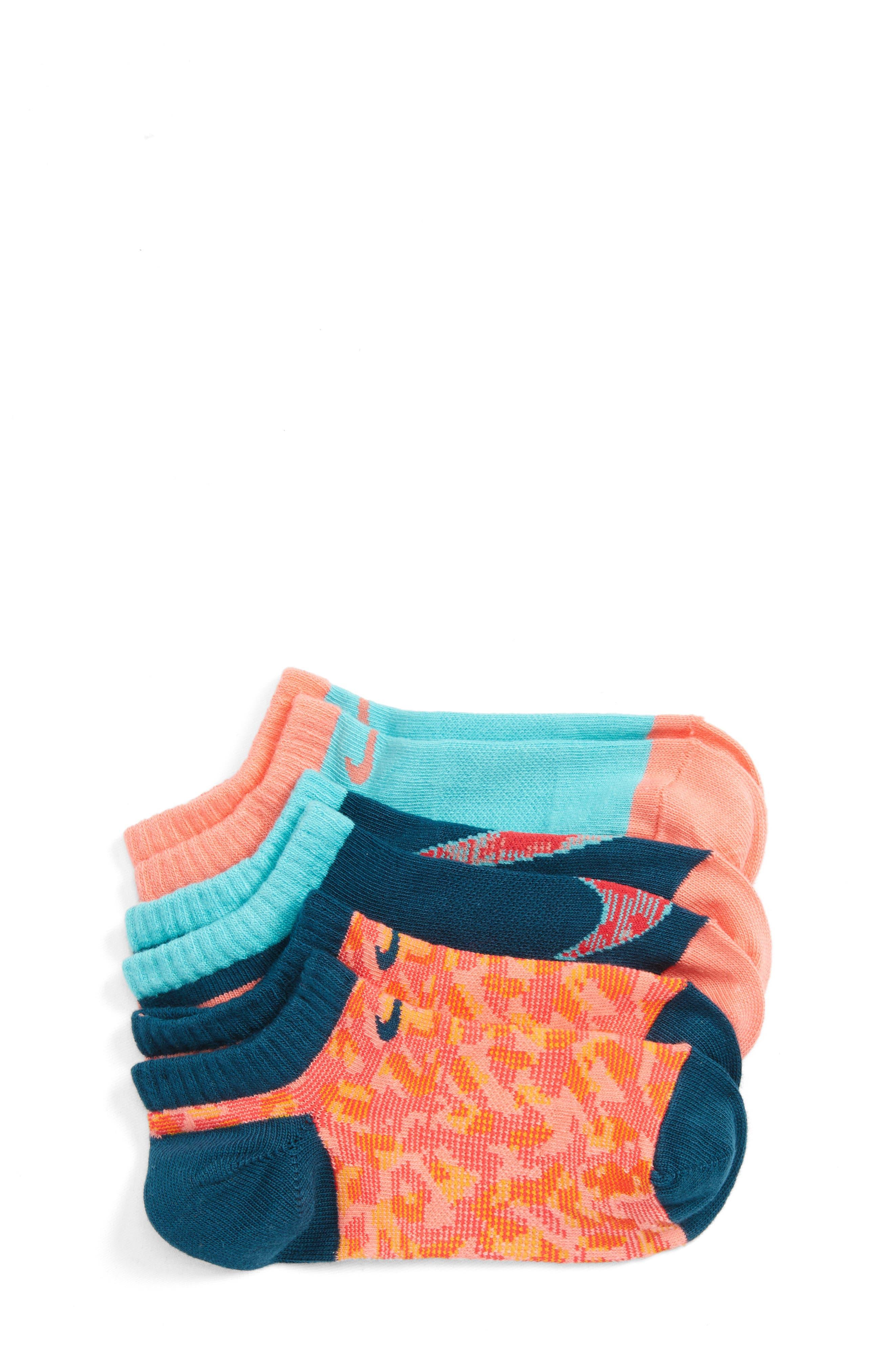Nike 3-Pack No-Show Socks (Kids)