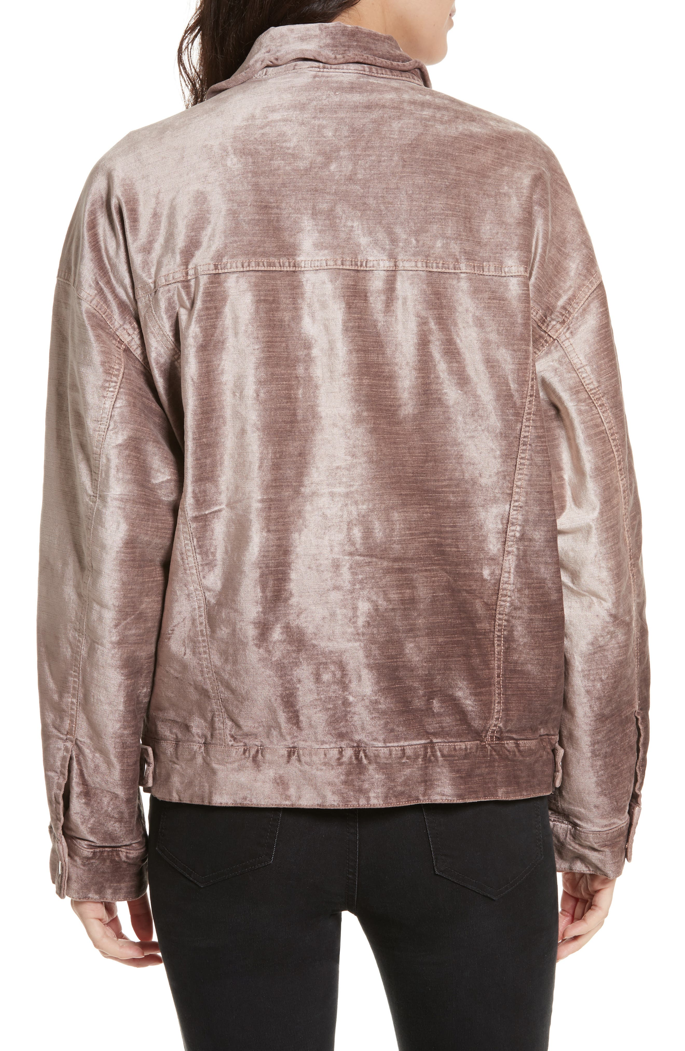 Alternate Image 2  - Free People Velvet Trucker Jacket