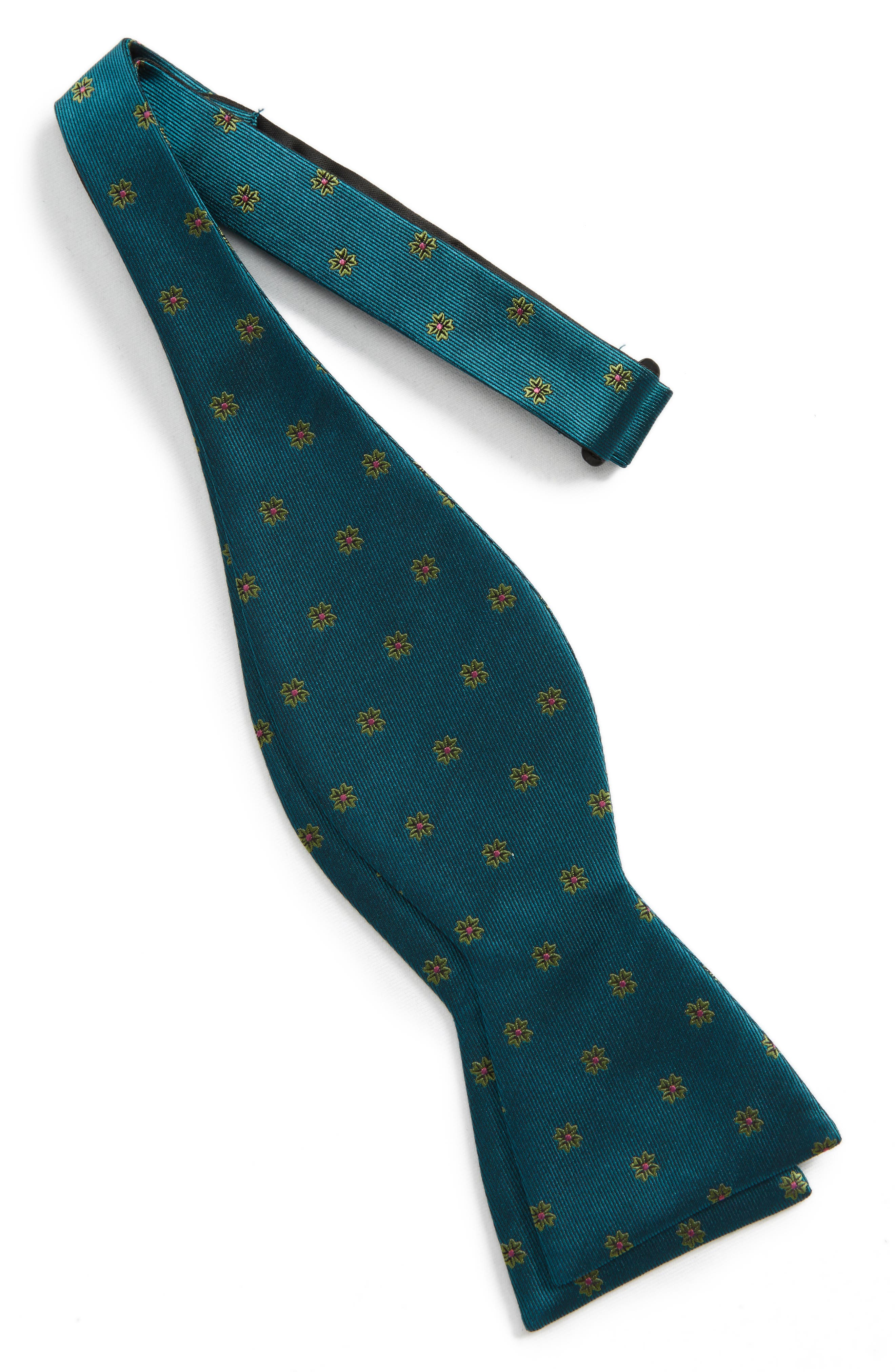 Alternate Image 2  - The Tie Bar Floral Span Silk Bow Tie