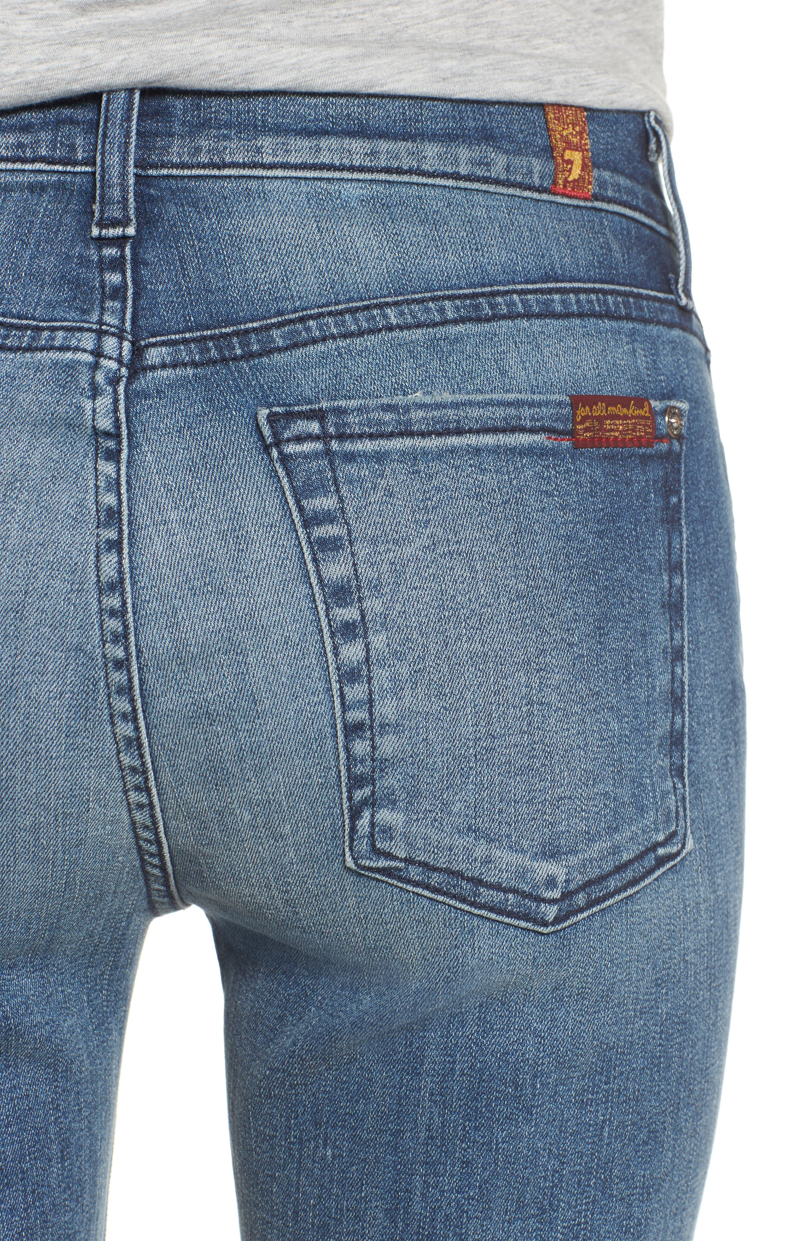 Alternate Image 4  - 7 For All Mankind® Crop Bootcut Jeans (Wall Street Heritage)