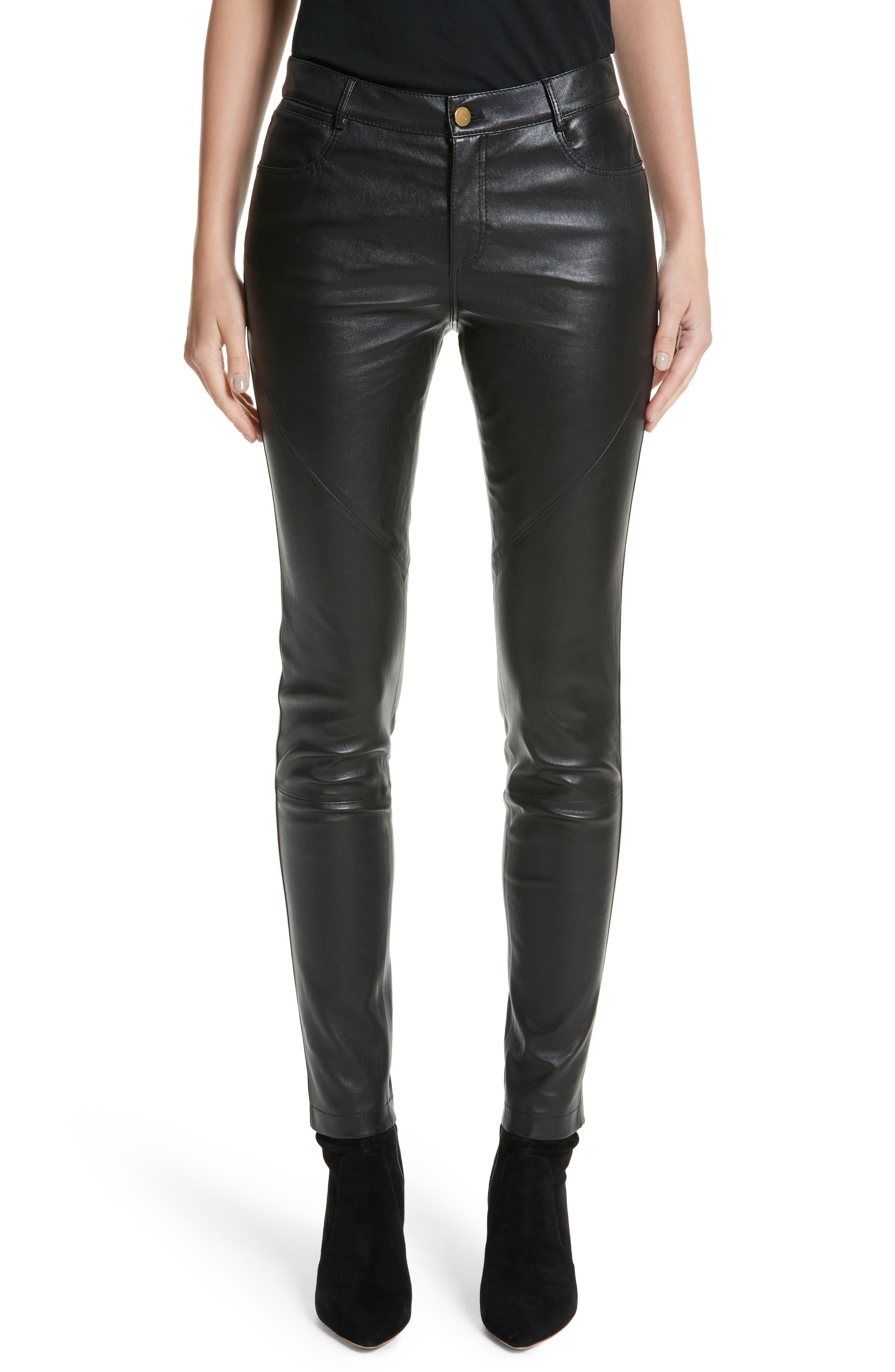 Alternate Image 1 Selected - Lafayette 148 New York Mercer Nappa Leather Pants