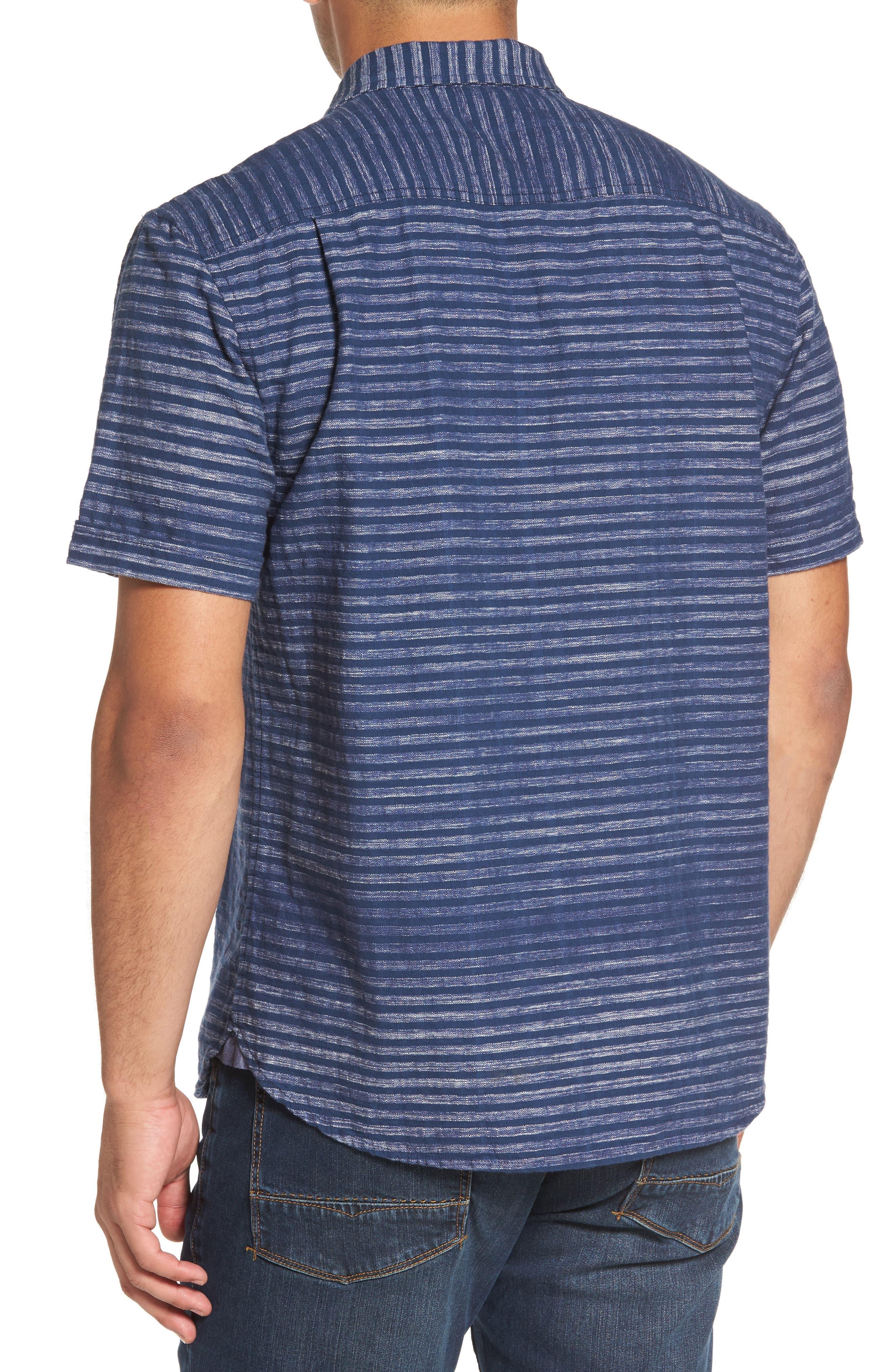 Alternate Image 2  - Tommy Bahama Seaway Stripe Standard Fit Sport Shirt