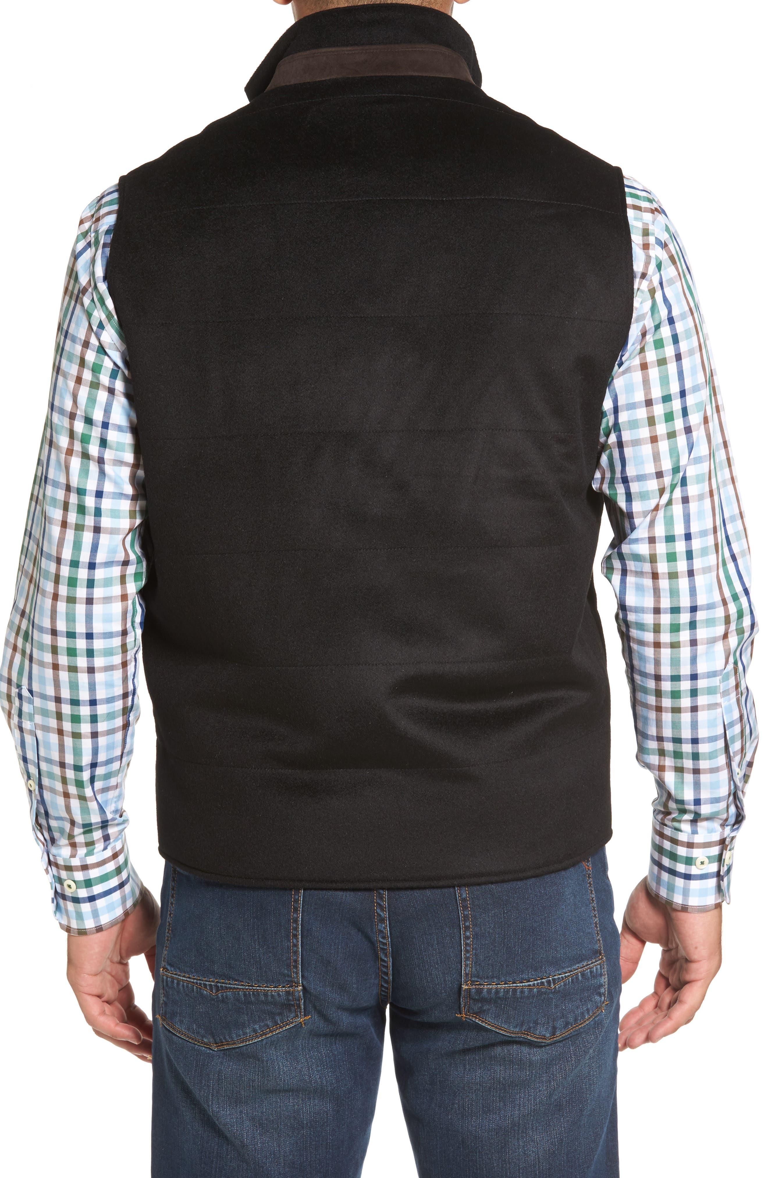 Crown Darien Wool & Cashmere Vest,                             Alternate thumbnail 2, color,                             Black