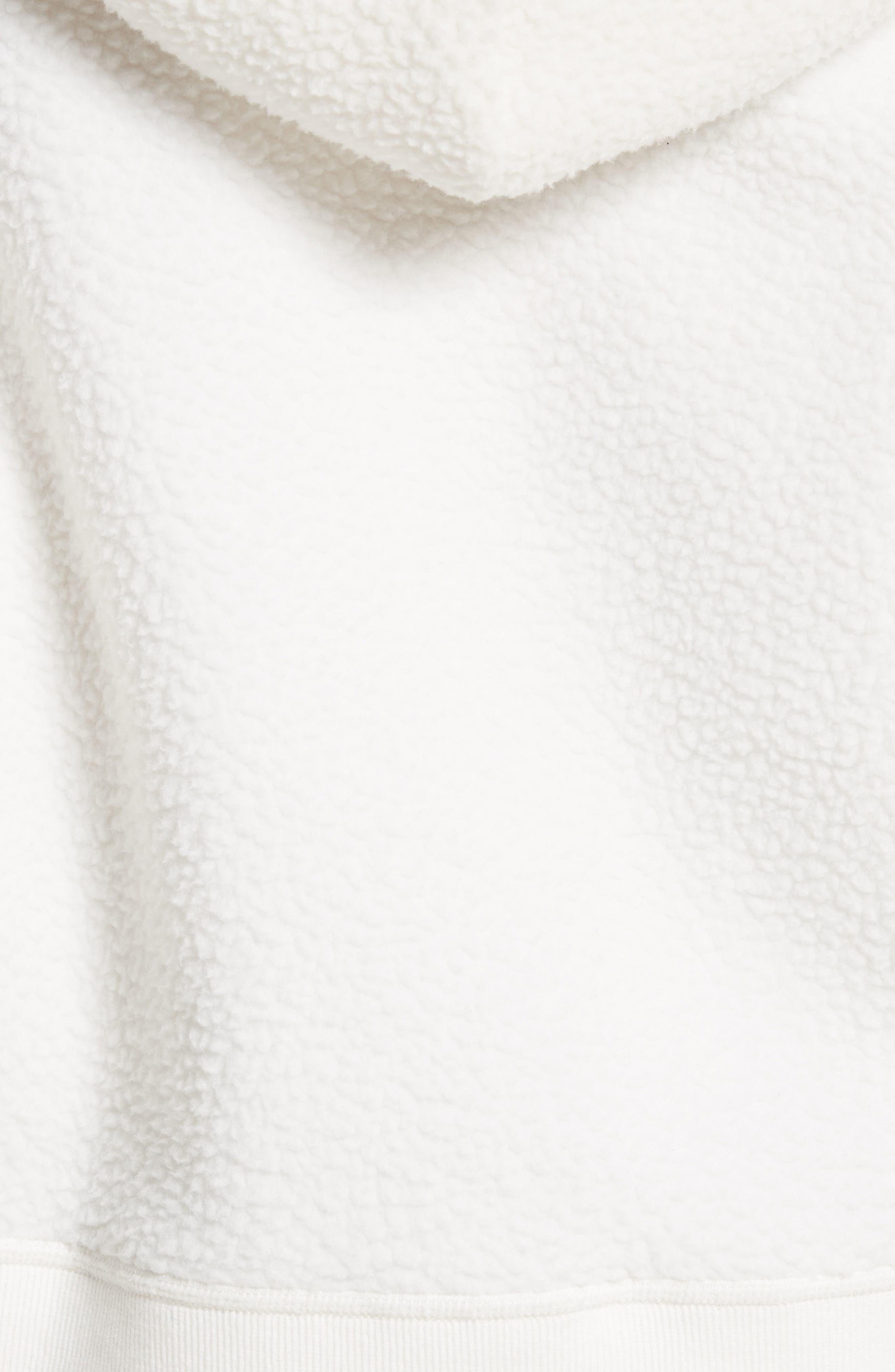 Fleece Hoodie Pullover,                             Alternate thumbnail 5, color,                             Eggshell