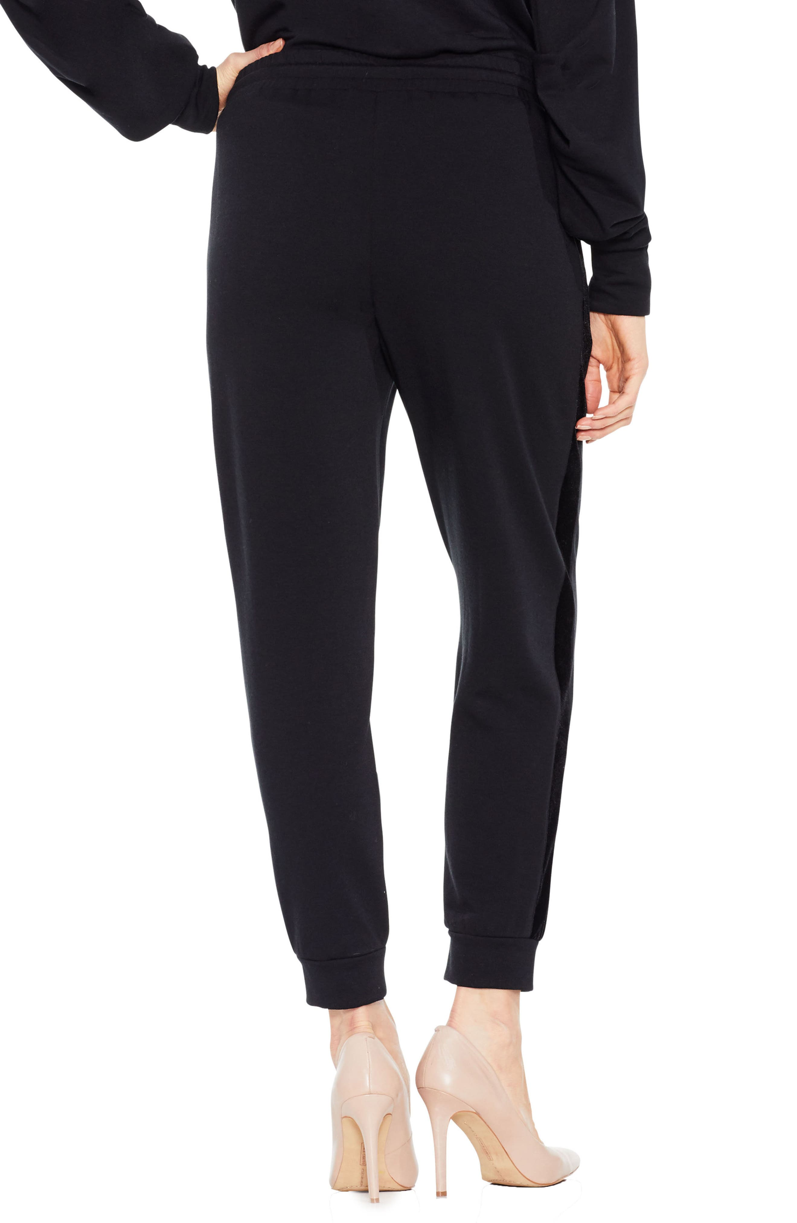 Alternate Image 3  - Two by Vince Camuto Velvet Stripe Jogger Pants