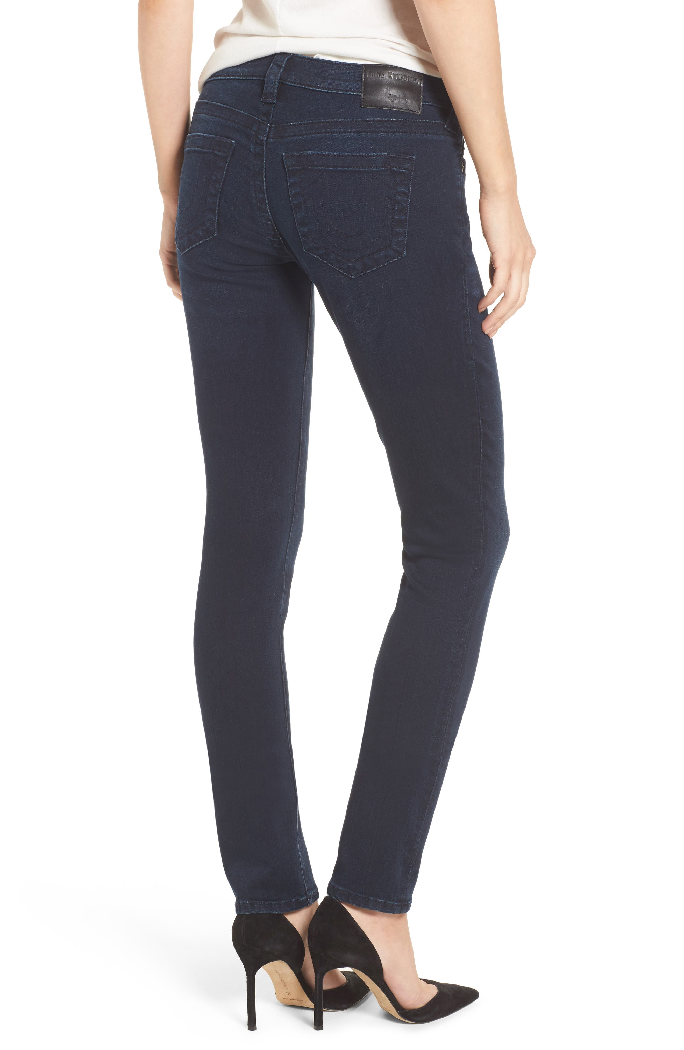 Alternate Image 2  - True Religion Brand Jeans Stella Low Rise Skinny Jeans (Mystic Blues)
