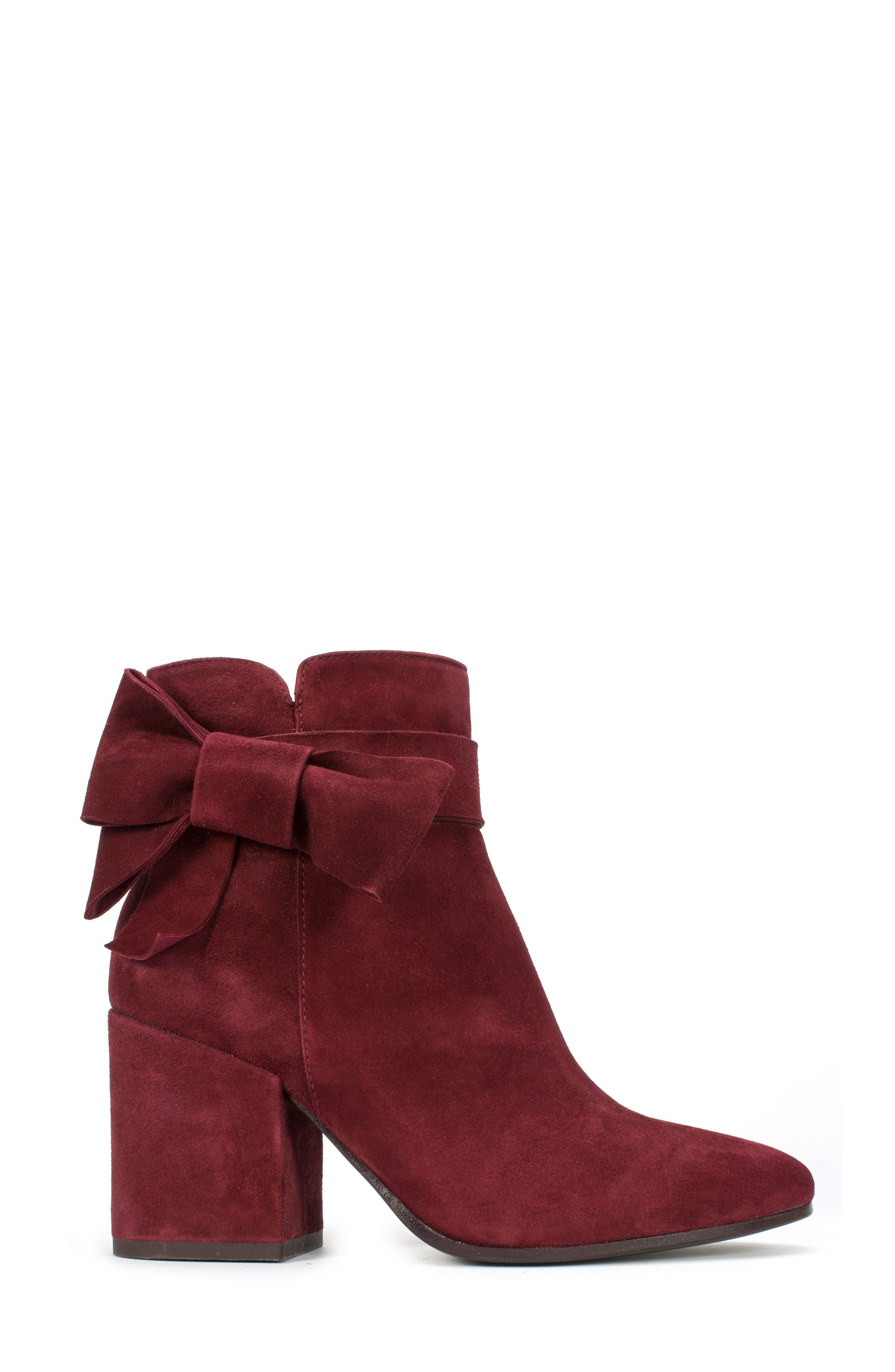 Stevie Bootie,                             Alternate thumbnail 3, color,                             Burgundy Suede
