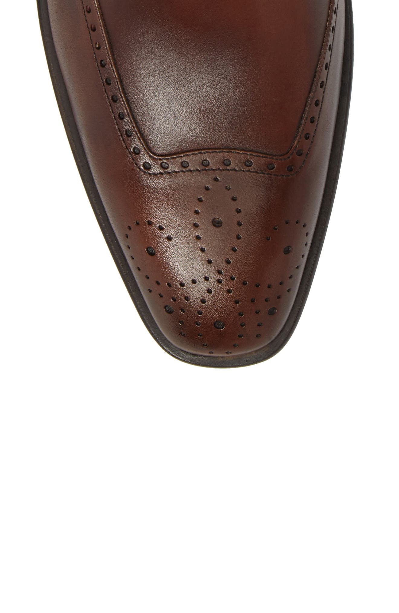 Taberna Double Monk Strap Boot,                             Alternate thumbnail 5, color,                             Cognac Leather