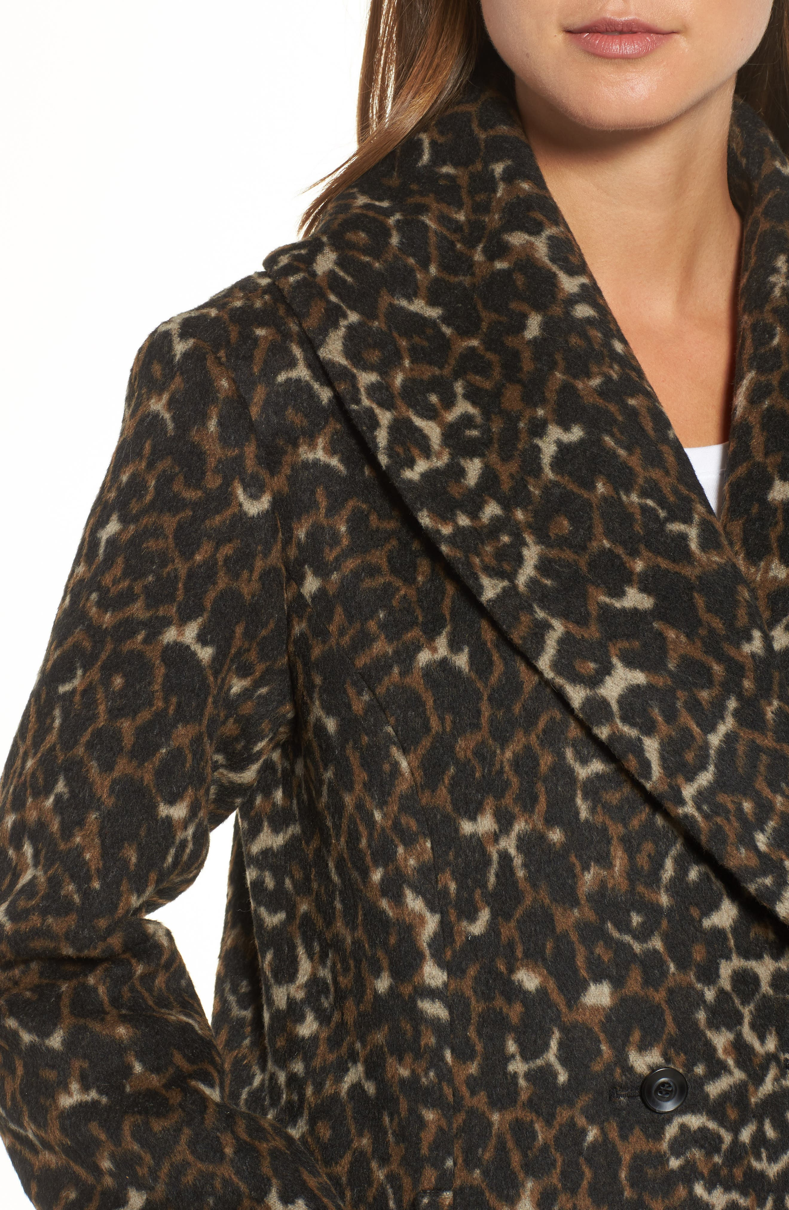 Alternate Image 4  - Hinge Animal Print Coat