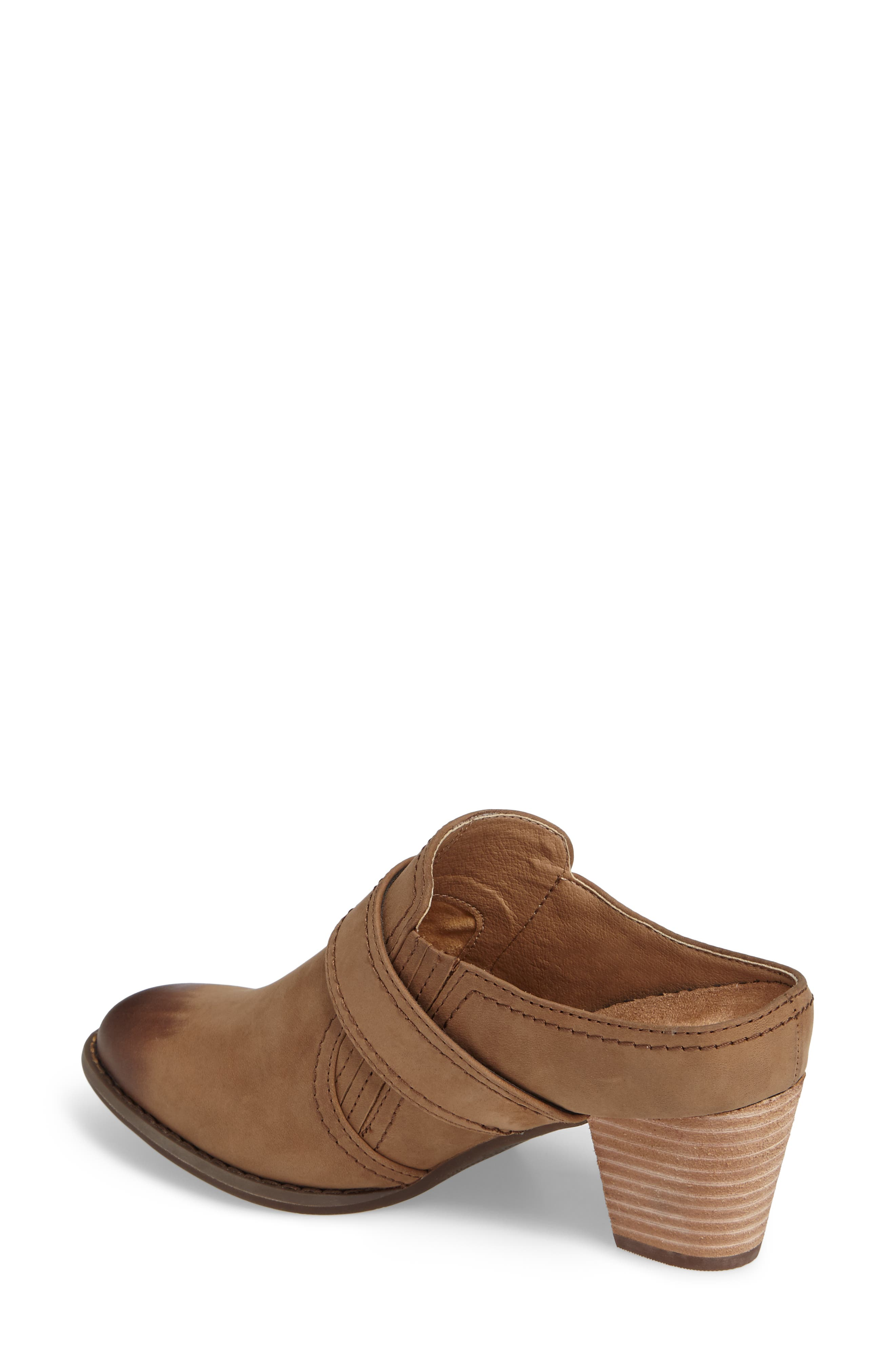 Cheyenne Mule,                             Alternate thumbnail 2, color,                             Brown Leather