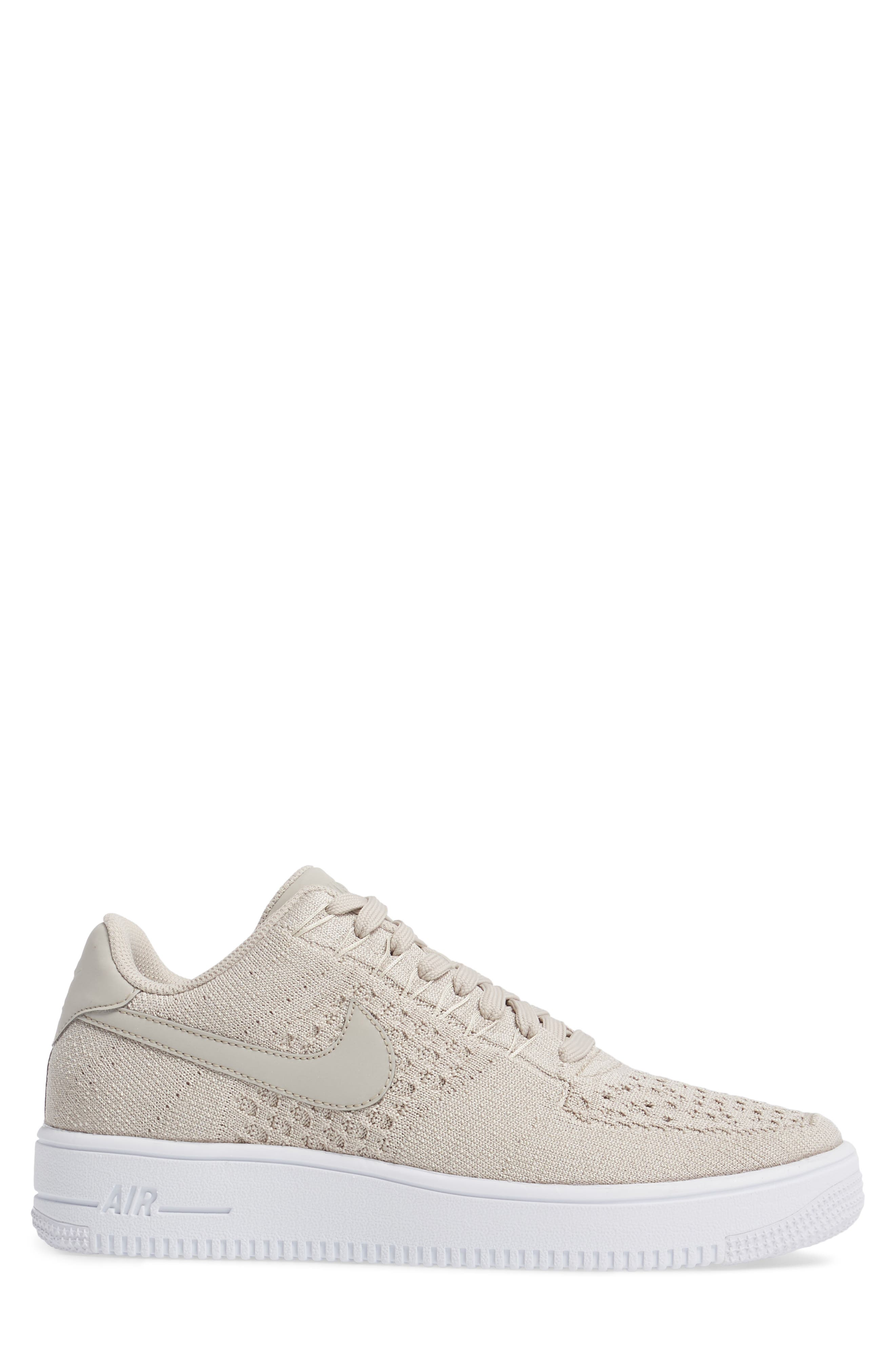 Air Force 1 Ultra Flyknit Low Sneaker,                             Alternate thumbnail 3, color,                             String/ String/ White