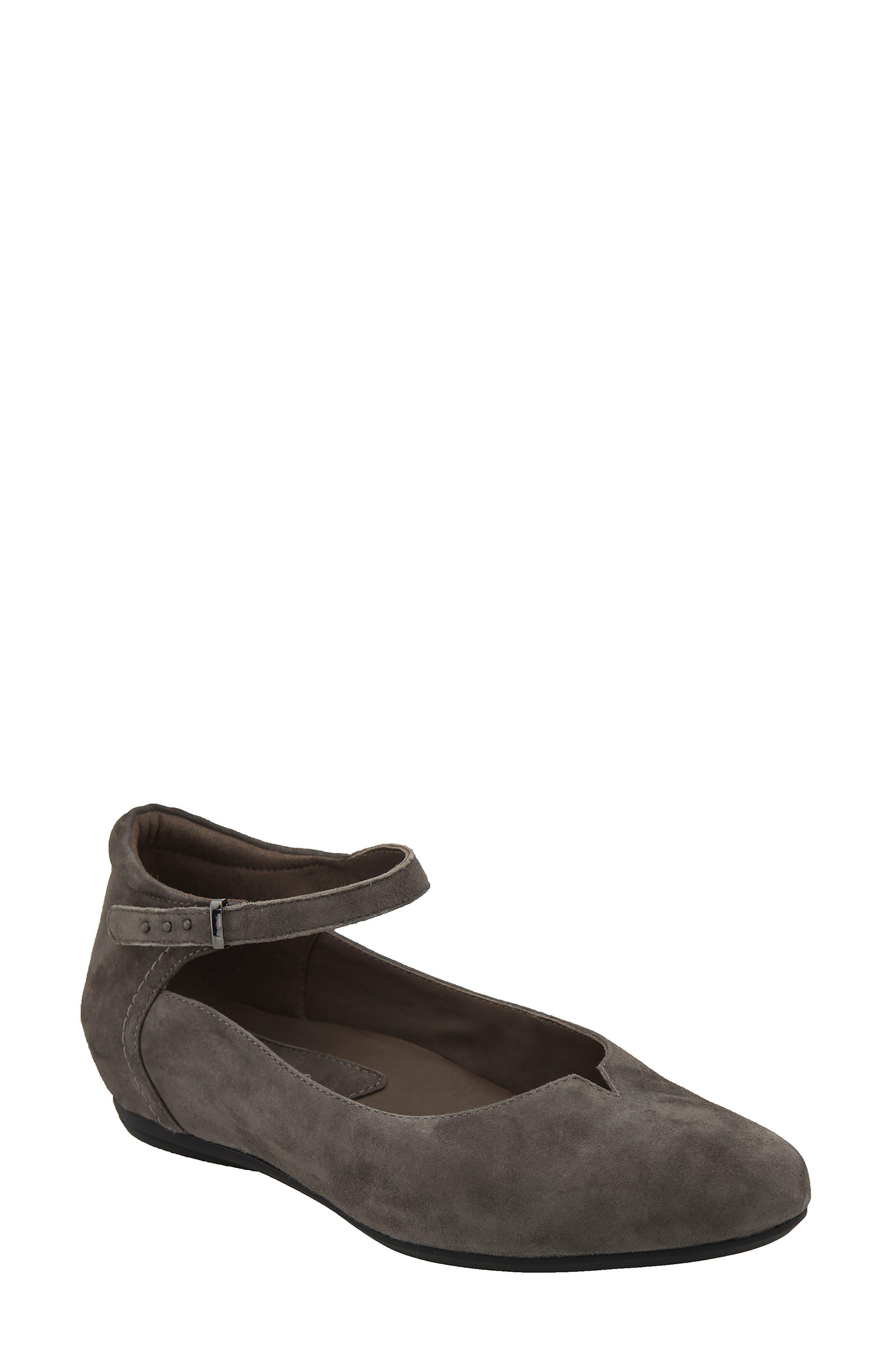 Main Image - Earthies® Emery Ankle Strap Flat (Women)