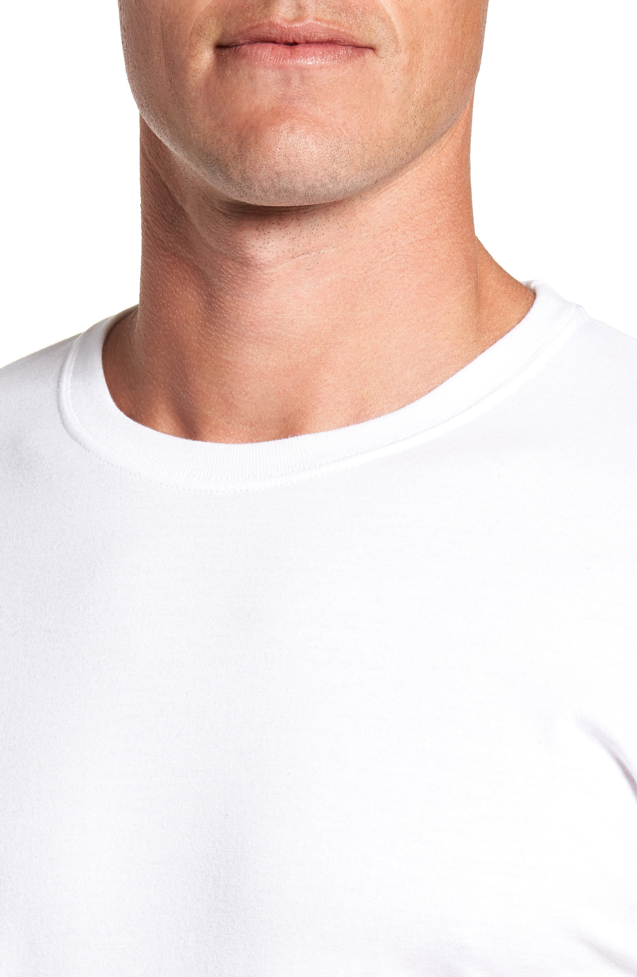 Alternate Image 5  - Hanes Luxury Essentials 3-Pack T-Shirt