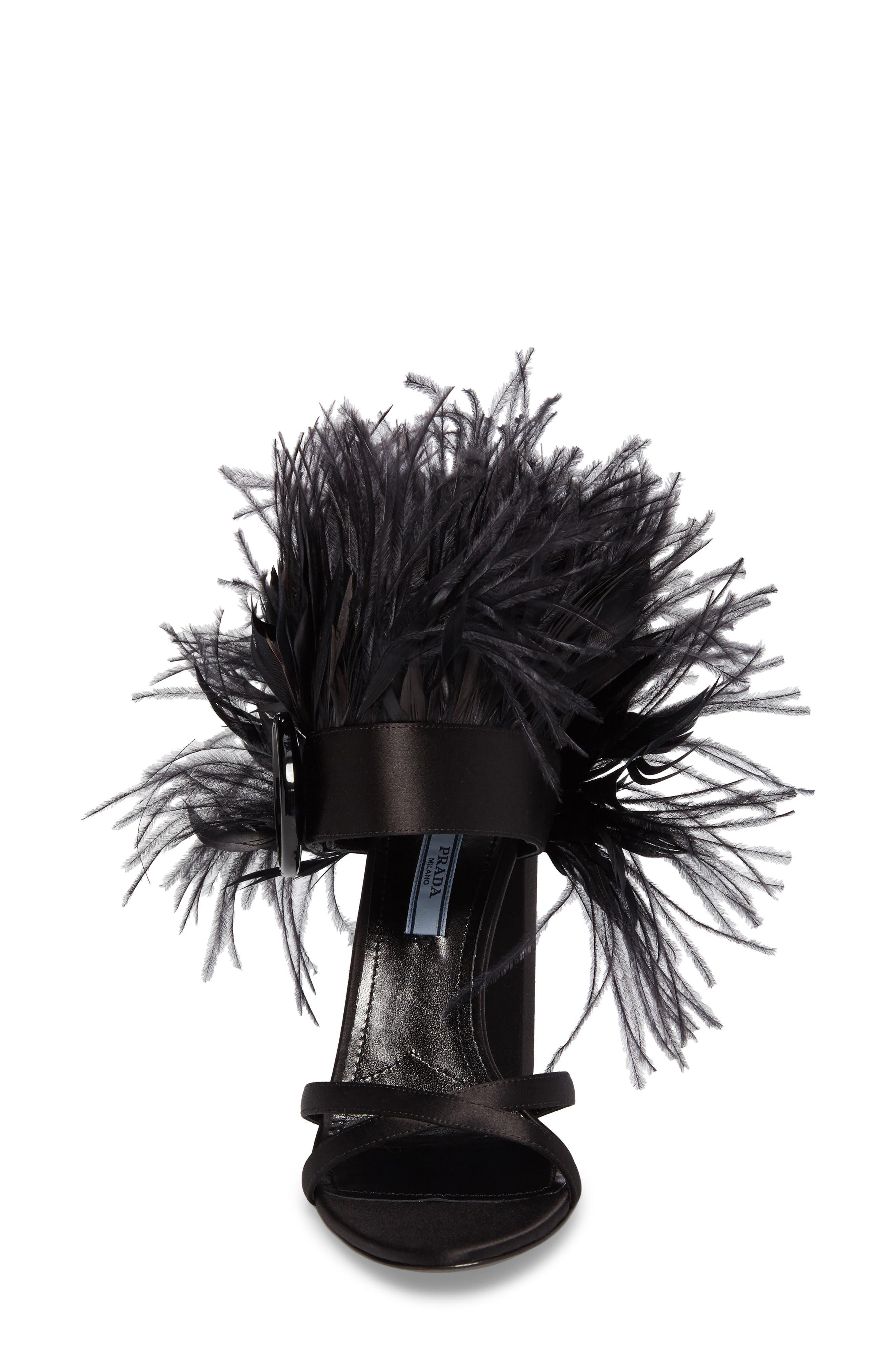 Alternate Image 4  - Prada Feather Block Heel Sandal (Women)