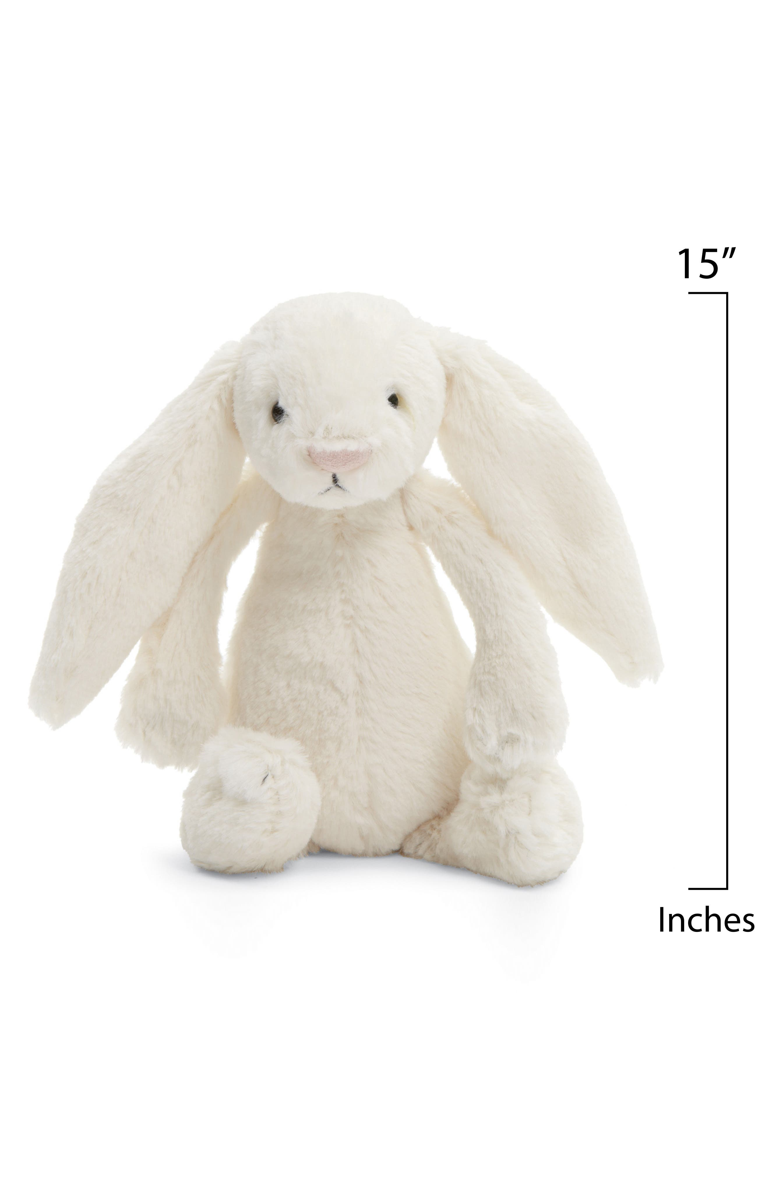 'Large Bashful Bunny' Stuffed Animal,                             Alternate thumbnail 3, color,                             Cream