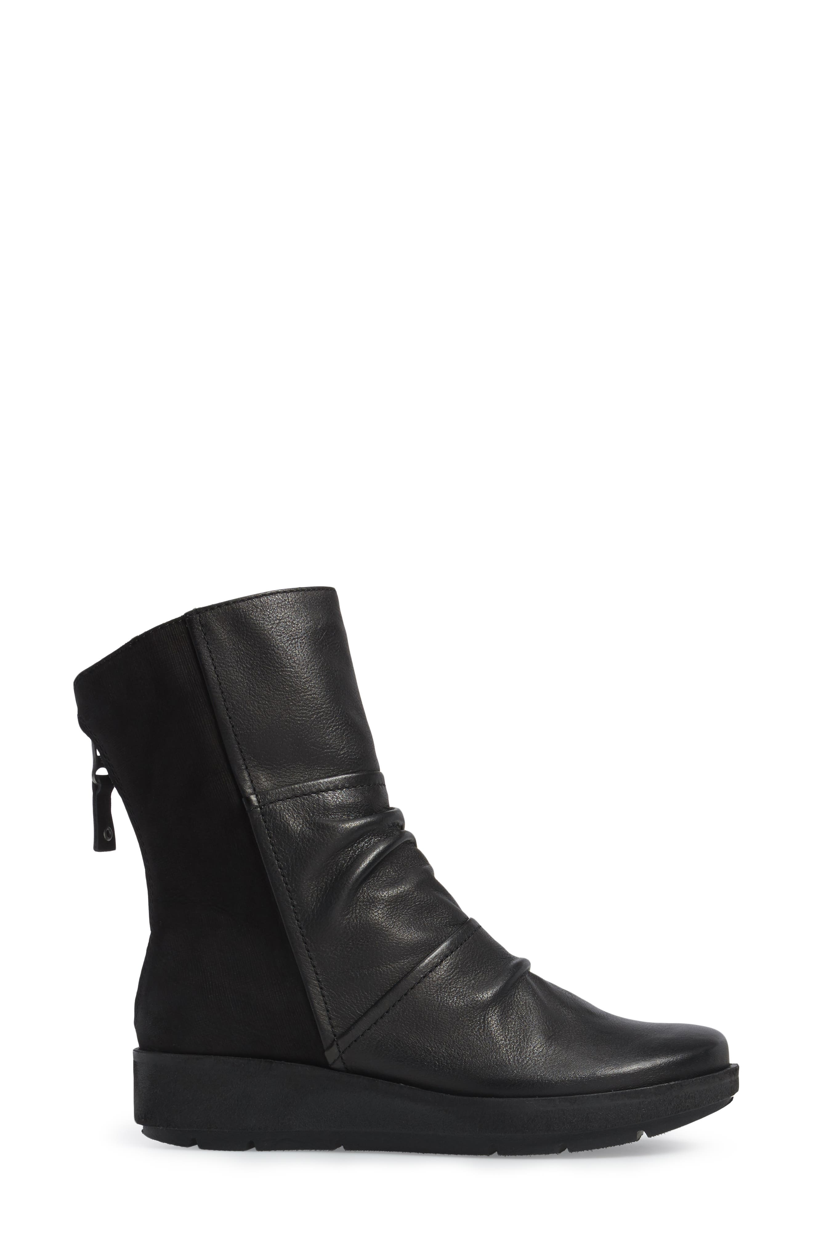 Pilgrim Boot,                             Alternate thumbnail 3, color,                             Black Leather