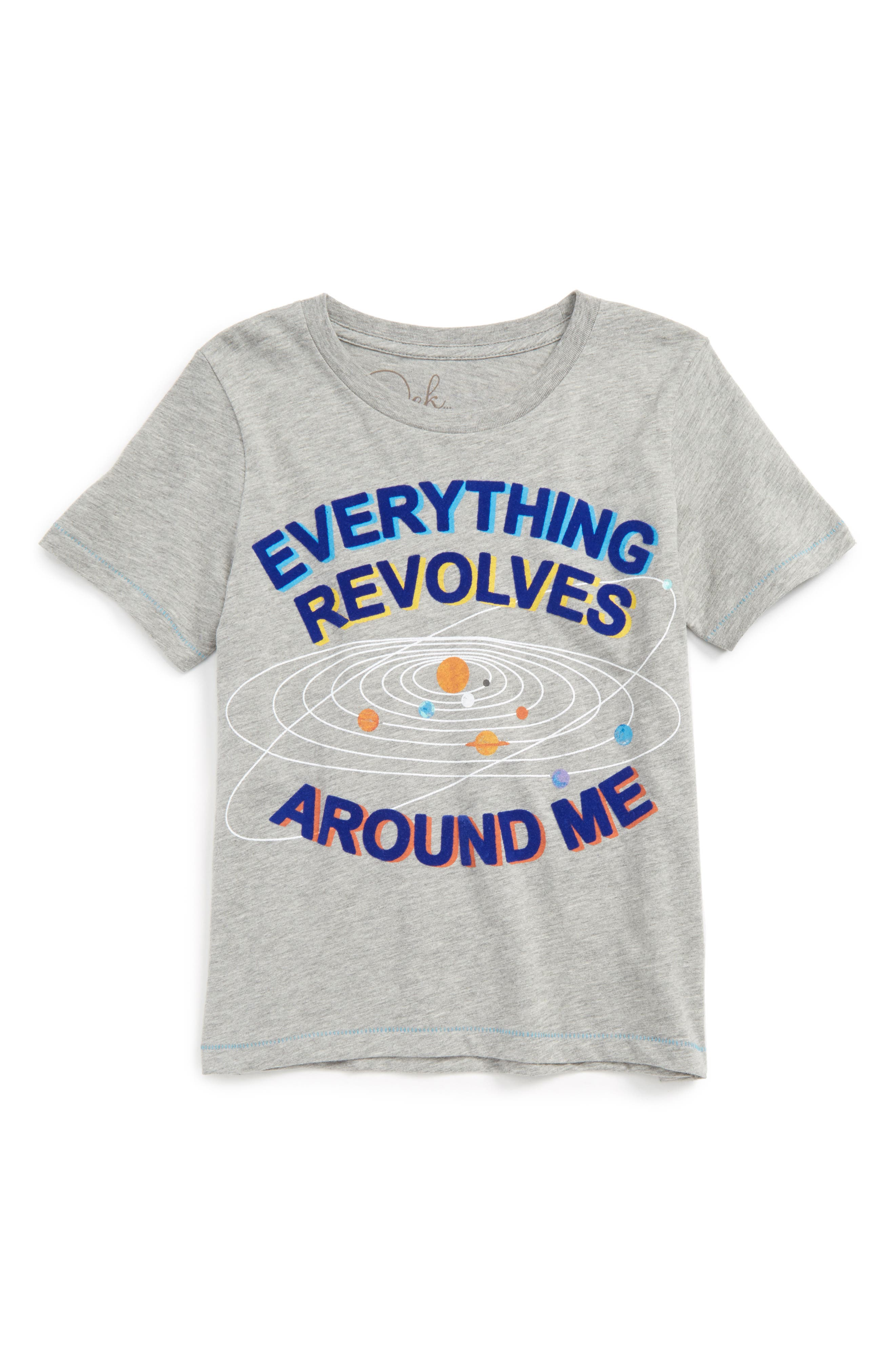 Everything Revolves Around Me T-Shirt,                             Main thumbnail 1, color,                             Light Heather Grey