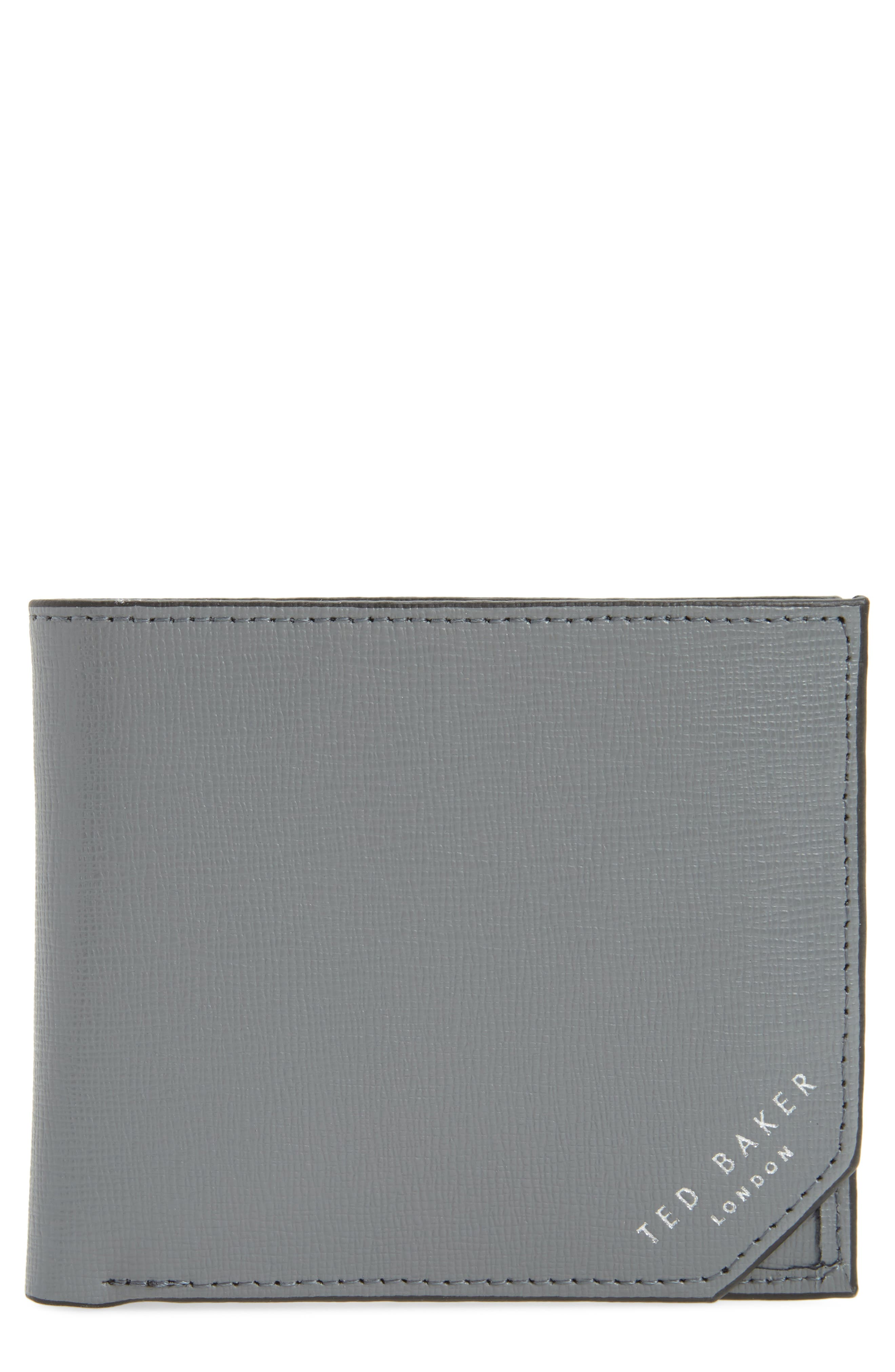Stitchup Bifold Wallet,                         Main,                         color, Charcoal