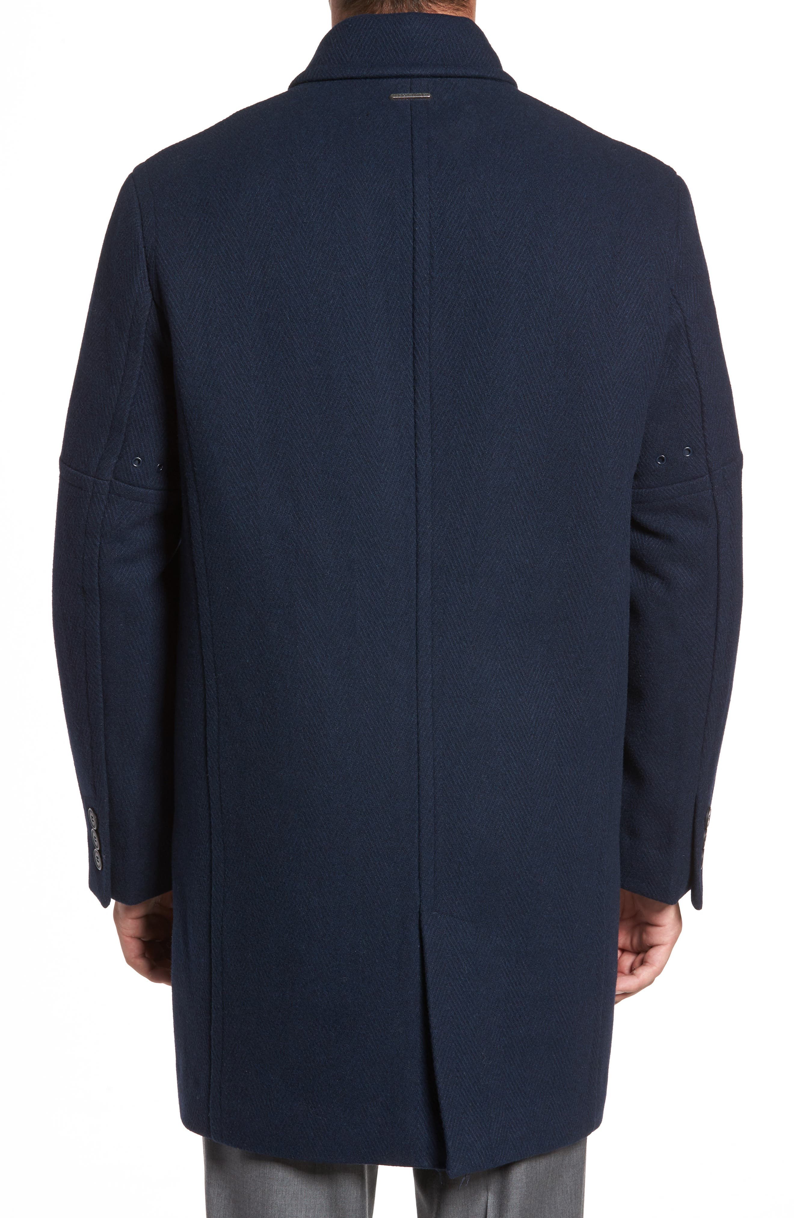 Alternate Image 2  - Marc New York Herringbone Wool Blend Car Coat