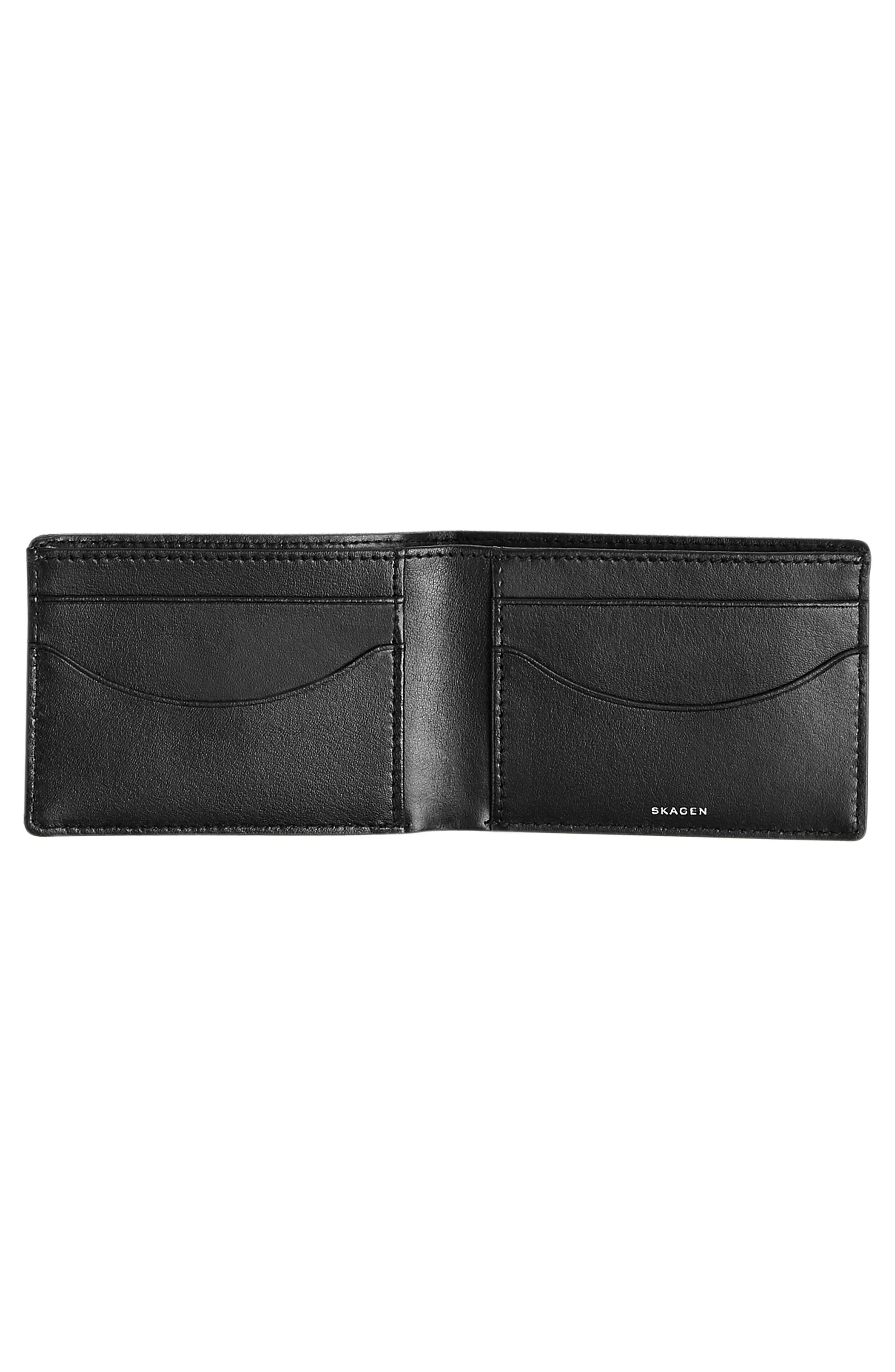 Slim Bifold Wallet,                             Alternate thumbnail 2, color,                             Ink
