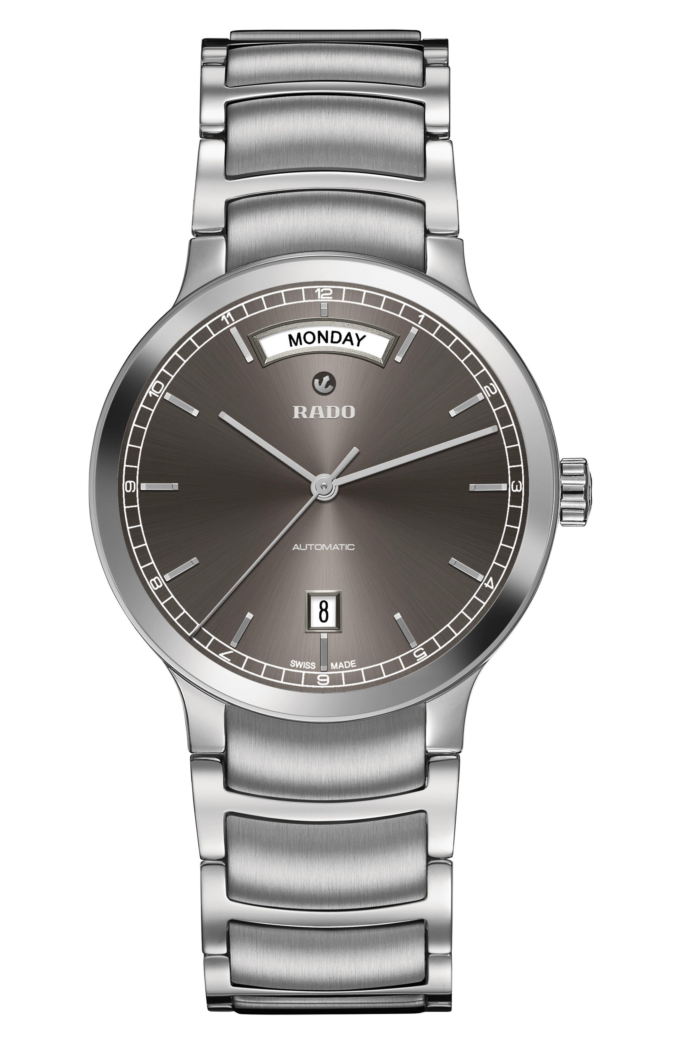 Centrix Automatic Bracelet Watch, 38mm,                         Main,                         color, Silver/ Grey/ Silver