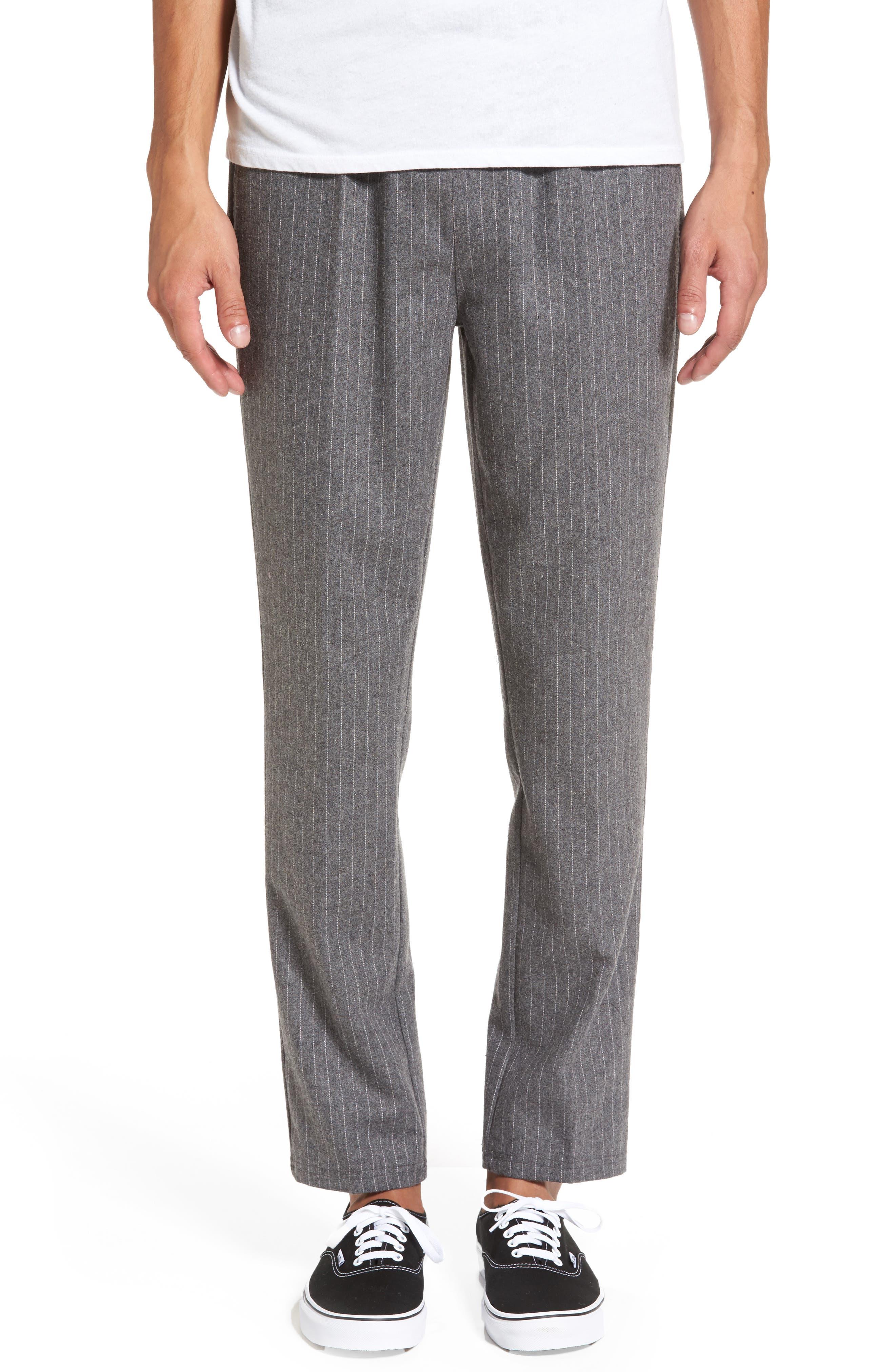 Pennyworth Pants,                         Main,                         color, Charcoal Pinstripe