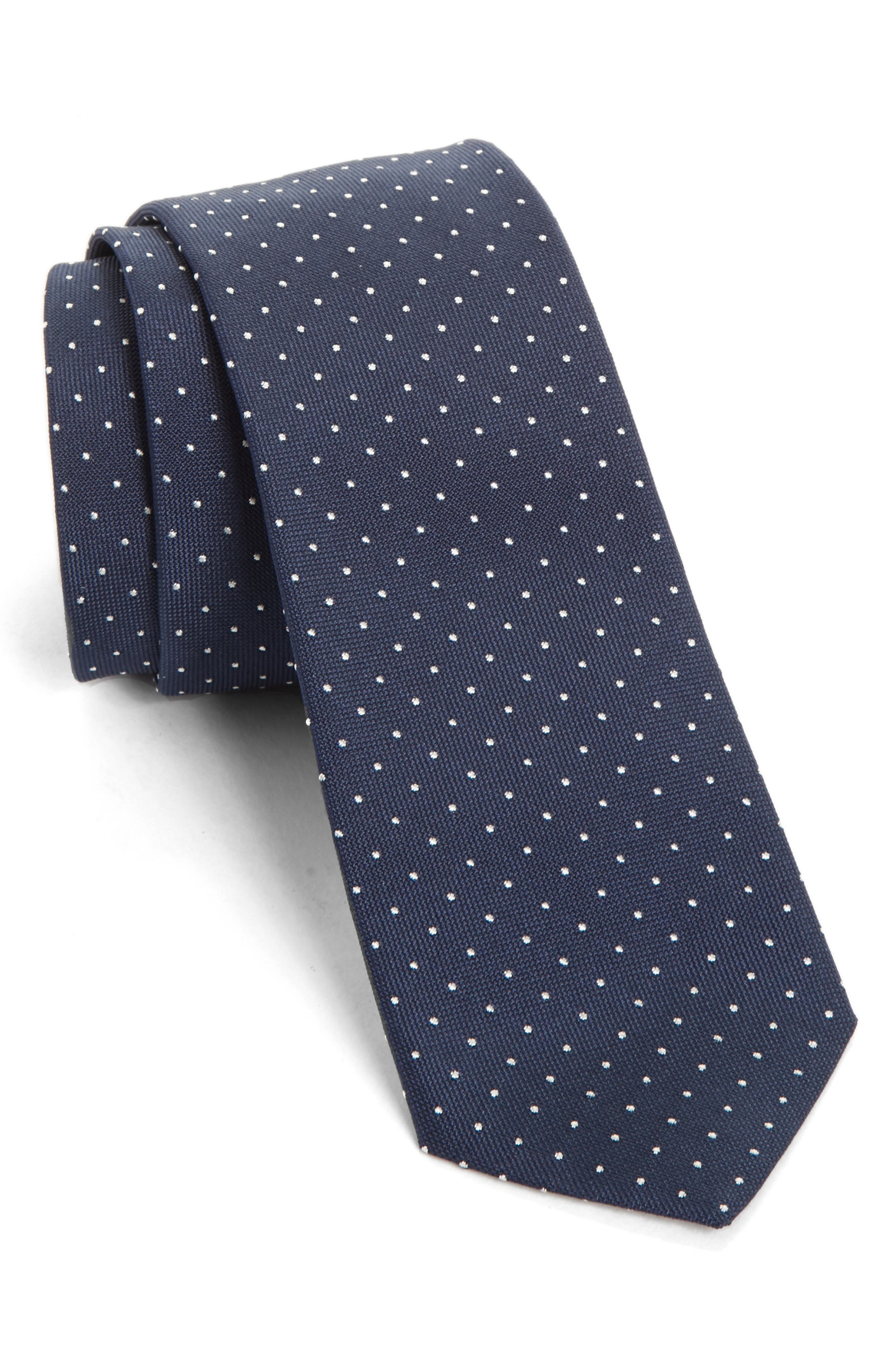 Paul Smith Dot Silk Skinny Tie