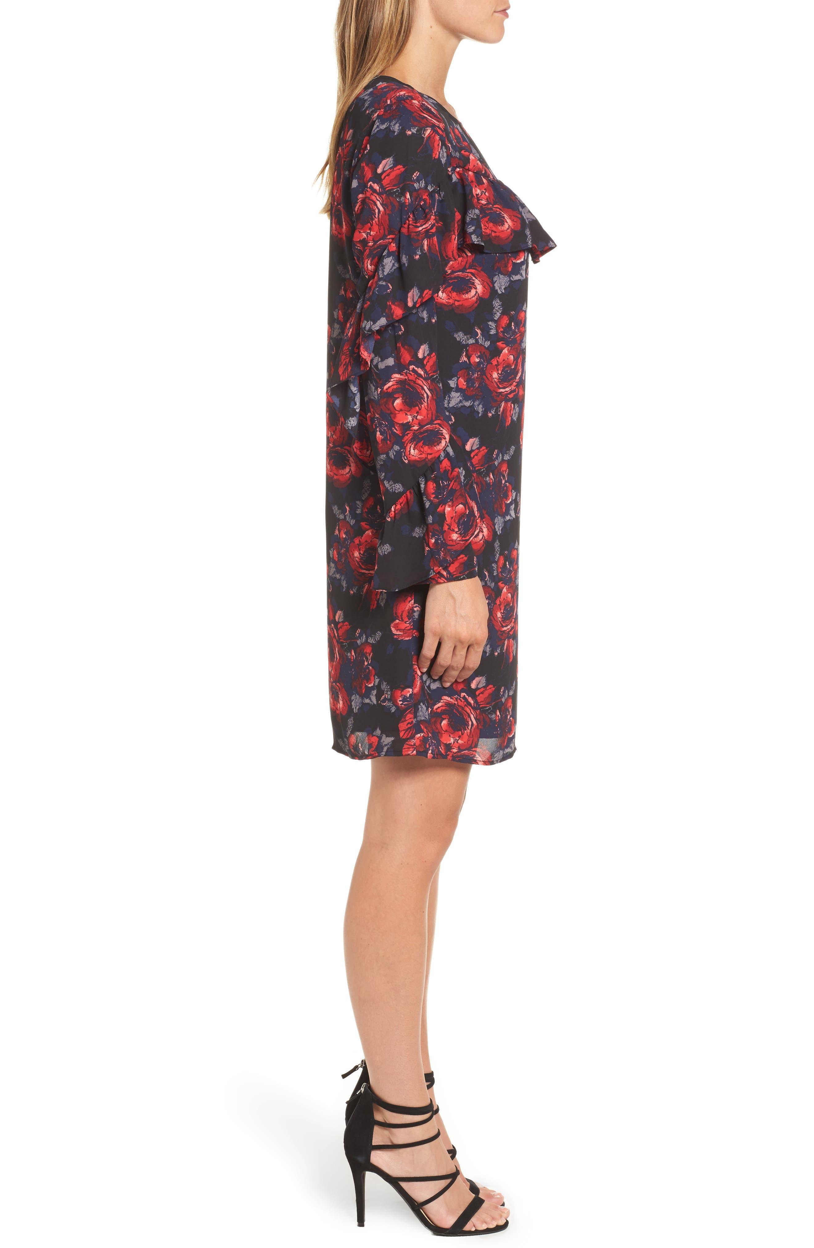 Alternate Image 3  - Halogen® Ruffle Shift Dress (Regular & Petite)