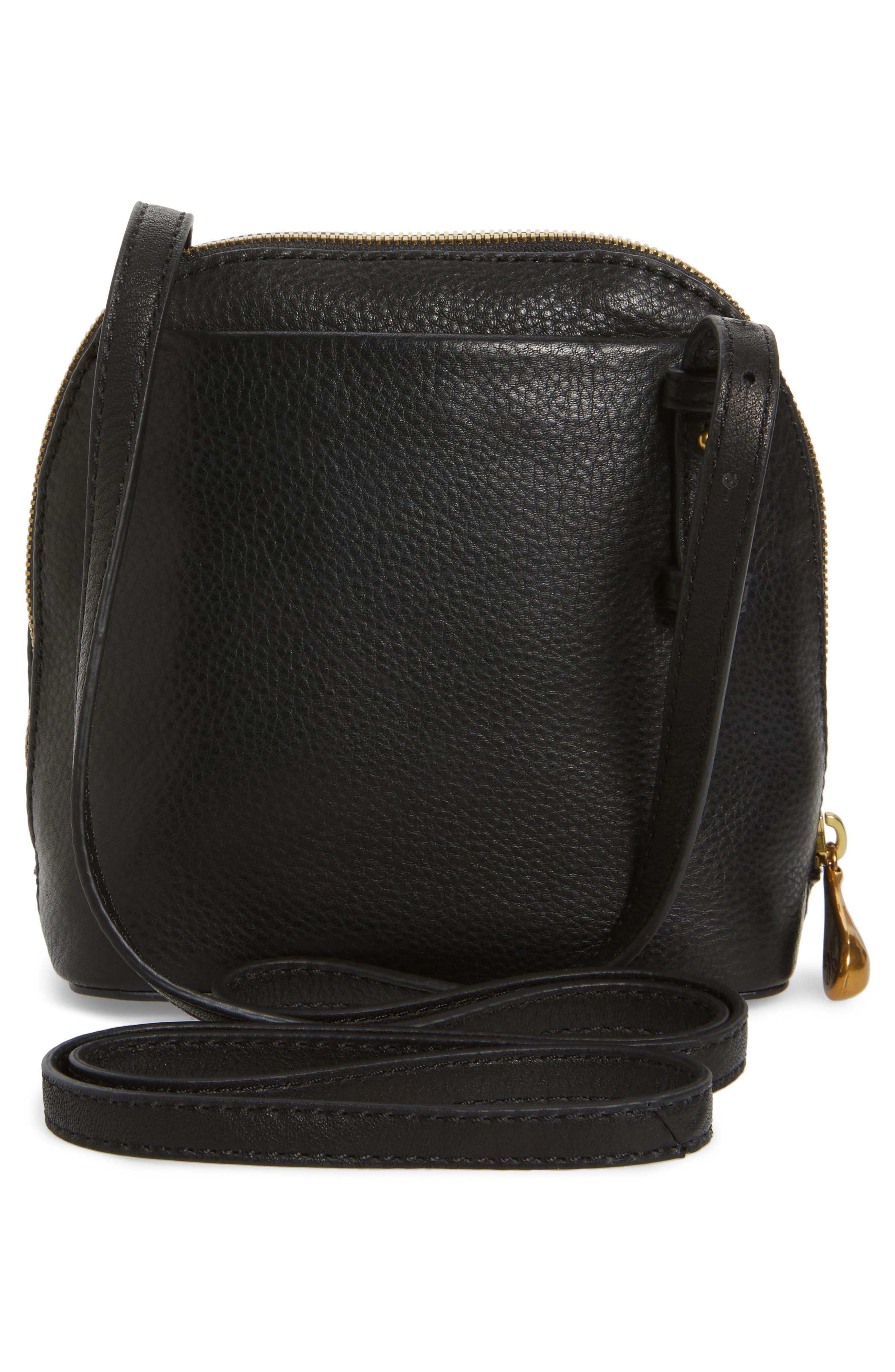 Nash Calfskin Leather Crossbody Bag,                             Alternate thumbnail 3, color,                             Black
