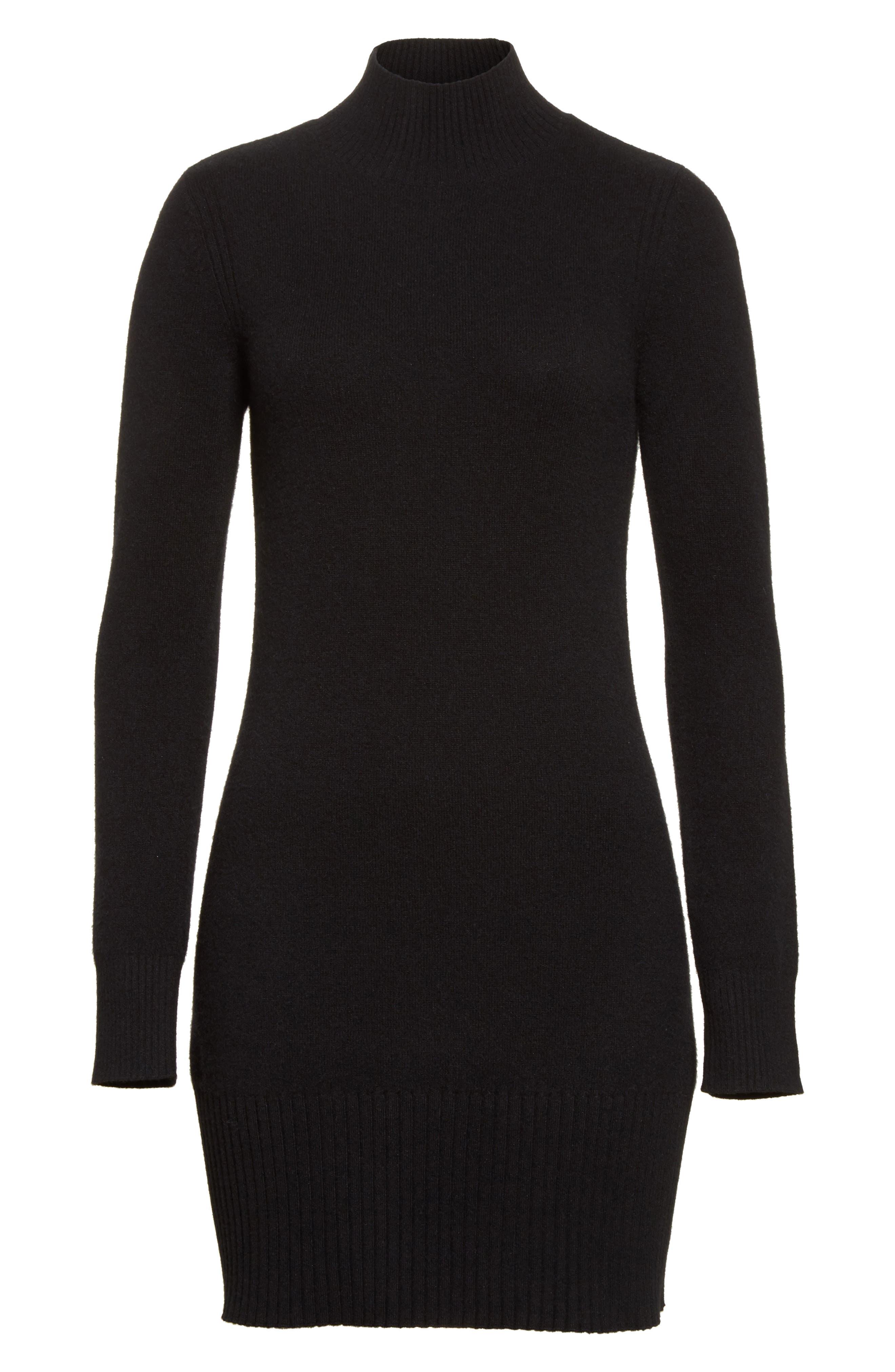 Alternate Image 6  - FRAME Turtleneck Cashmere Sweater Dress