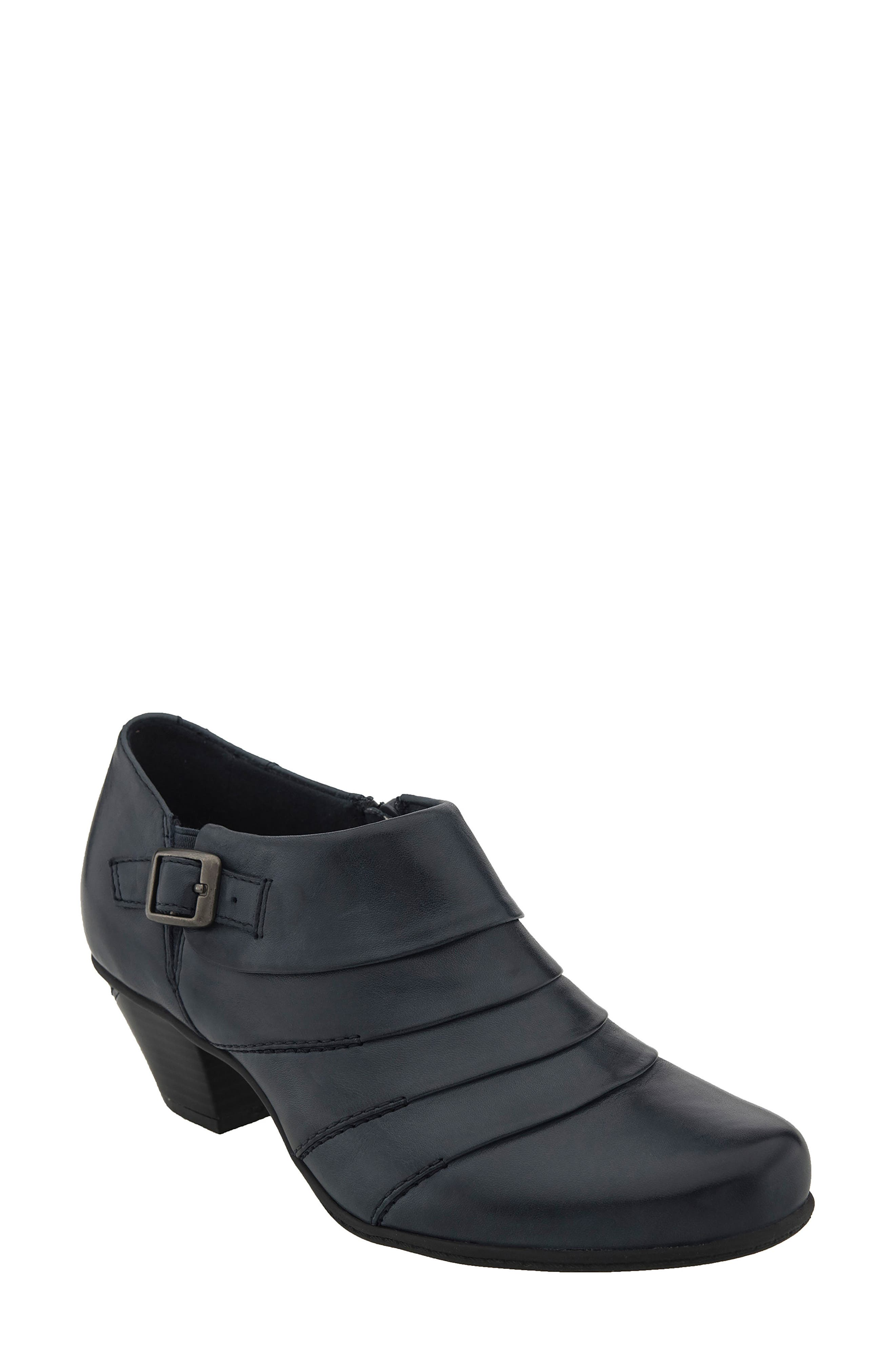 Dawn Bootie,                             Main thumbnail 1, color,                             Admiral Blue Leather