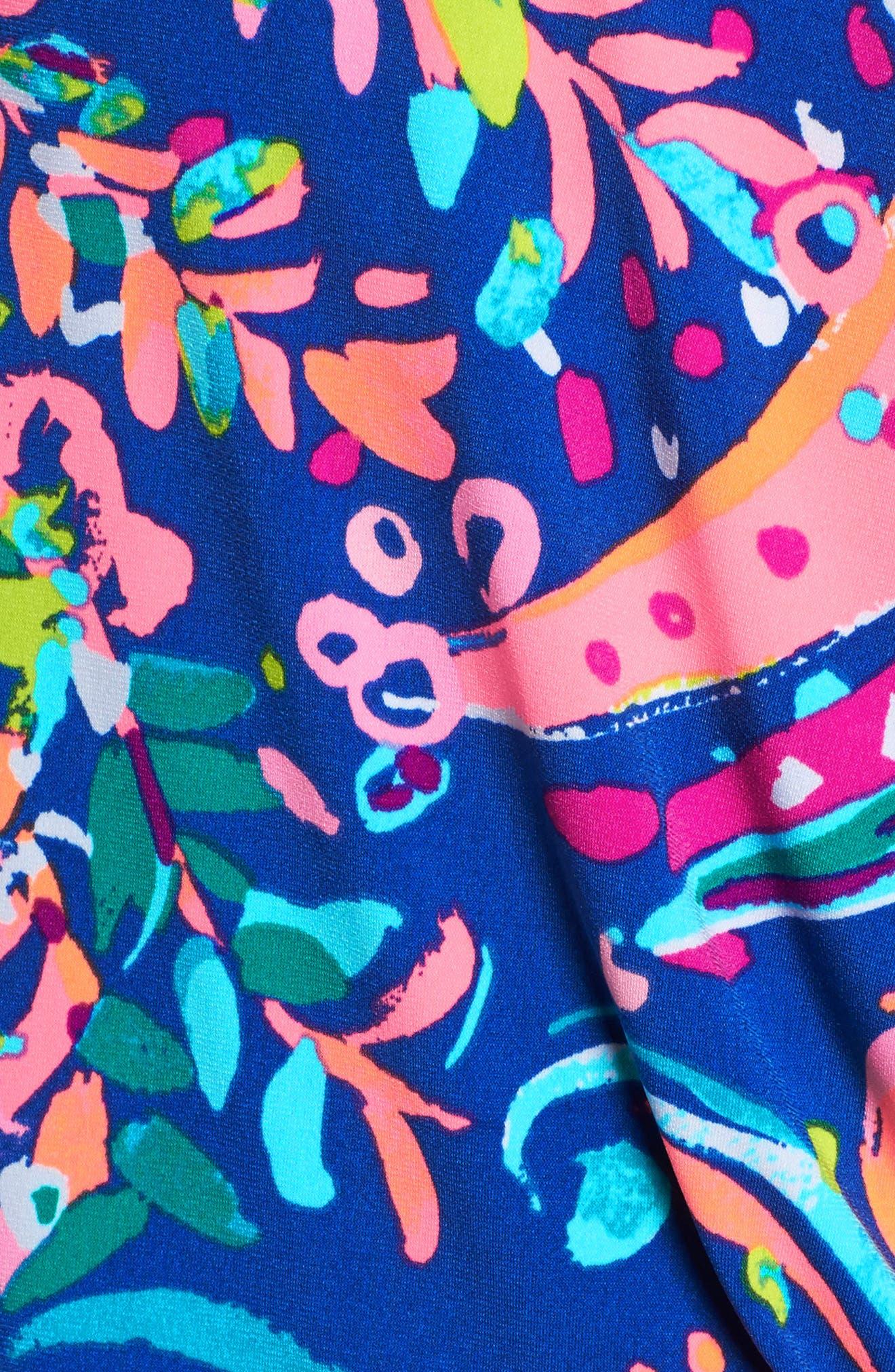 Felizia Blouson Dress,                             Alternate thumbnail 5, color,                             Multi Beach Loot