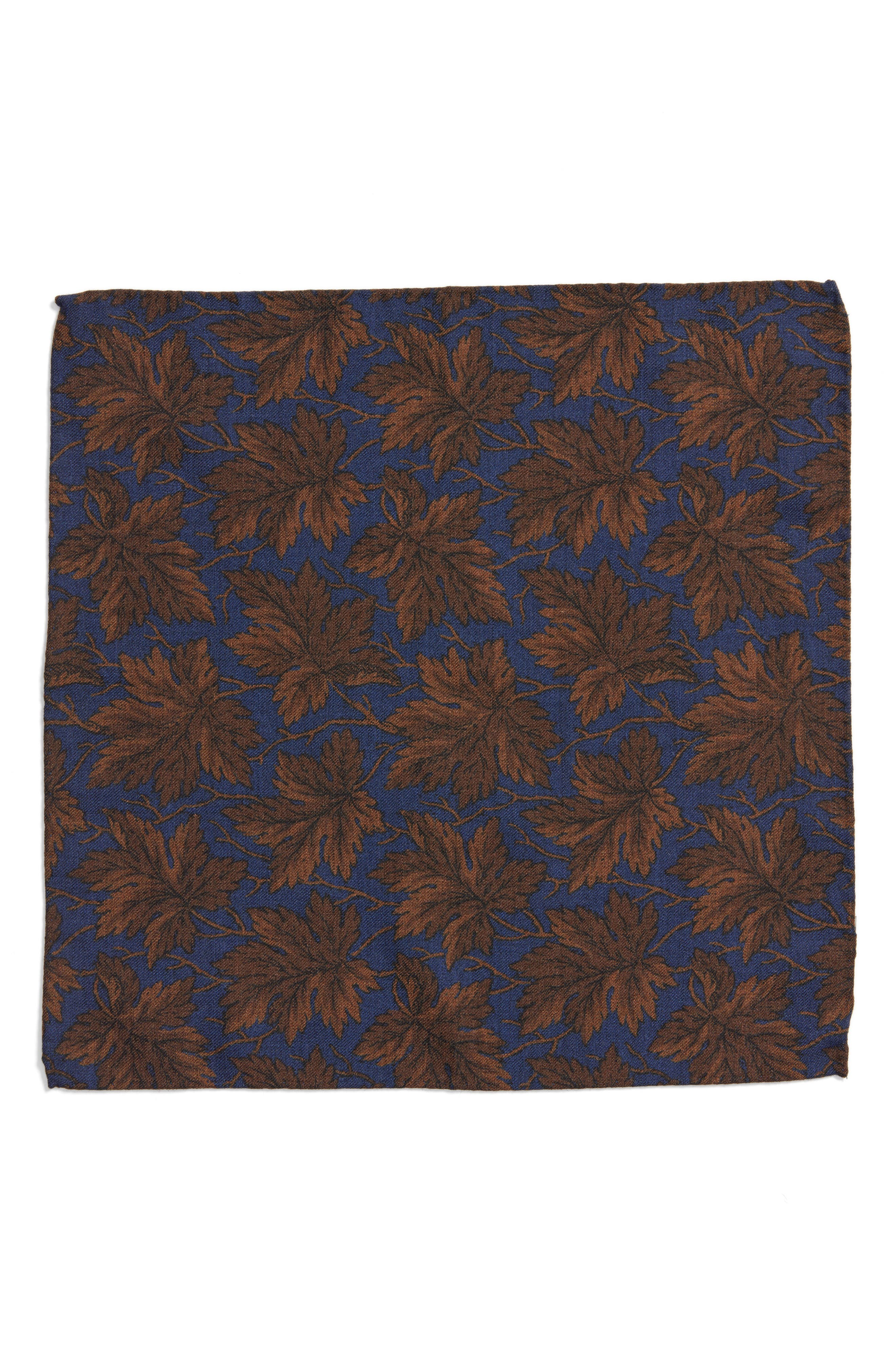 Alternate Image 2  - Bonobos Fall Leaf Wool Pocket Square