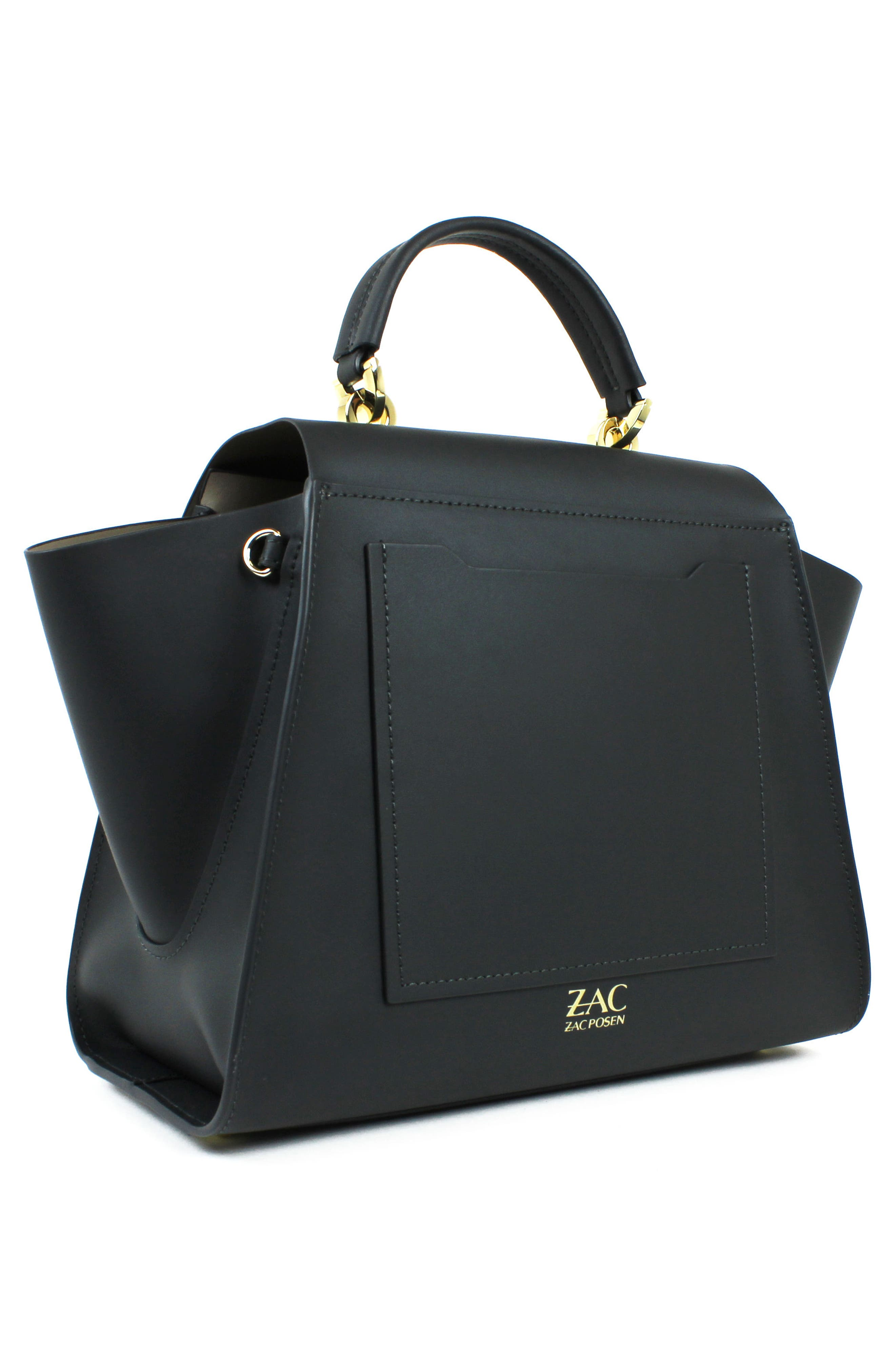 Eartha Iconic Calfskin Leather Top Handle Satchel,                             Alternate thumbnail 2, color,                             Nightfall